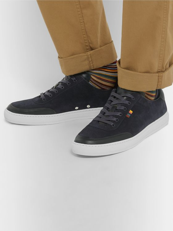 Paul Smith Earle Suede and Leather Sneakers
