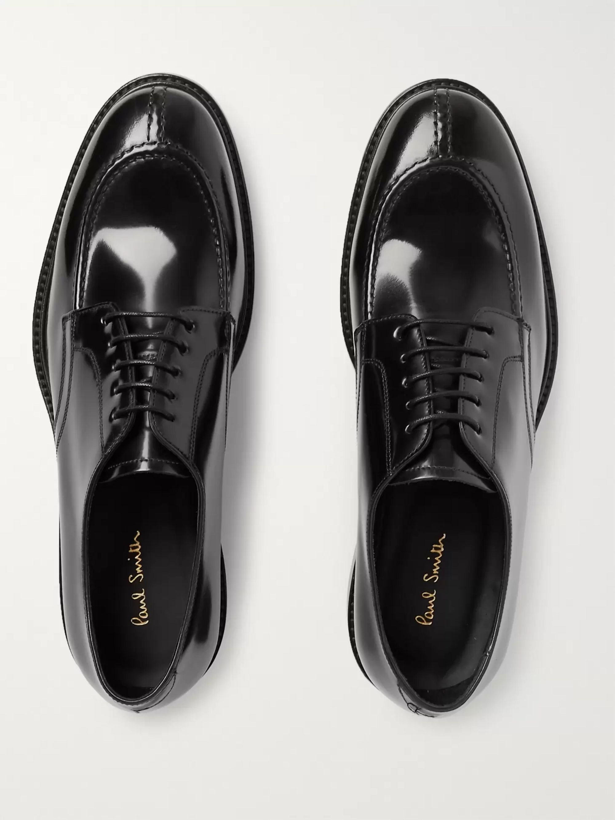 Paul Smith Andrew Polished-Leather Derby Shoes