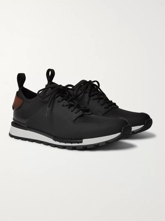 Berluti Run Track Leather and Neoprene Sneakers