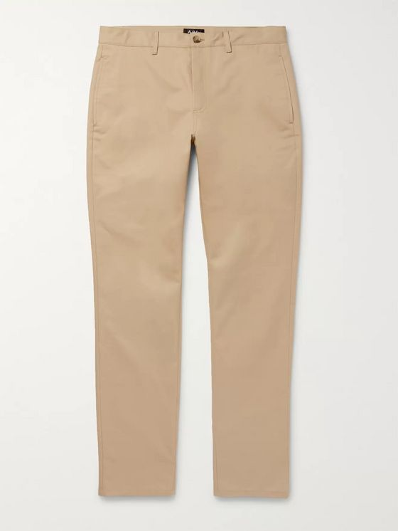 A.P.C. Navy Classic Cotton-Gabardine Chinos