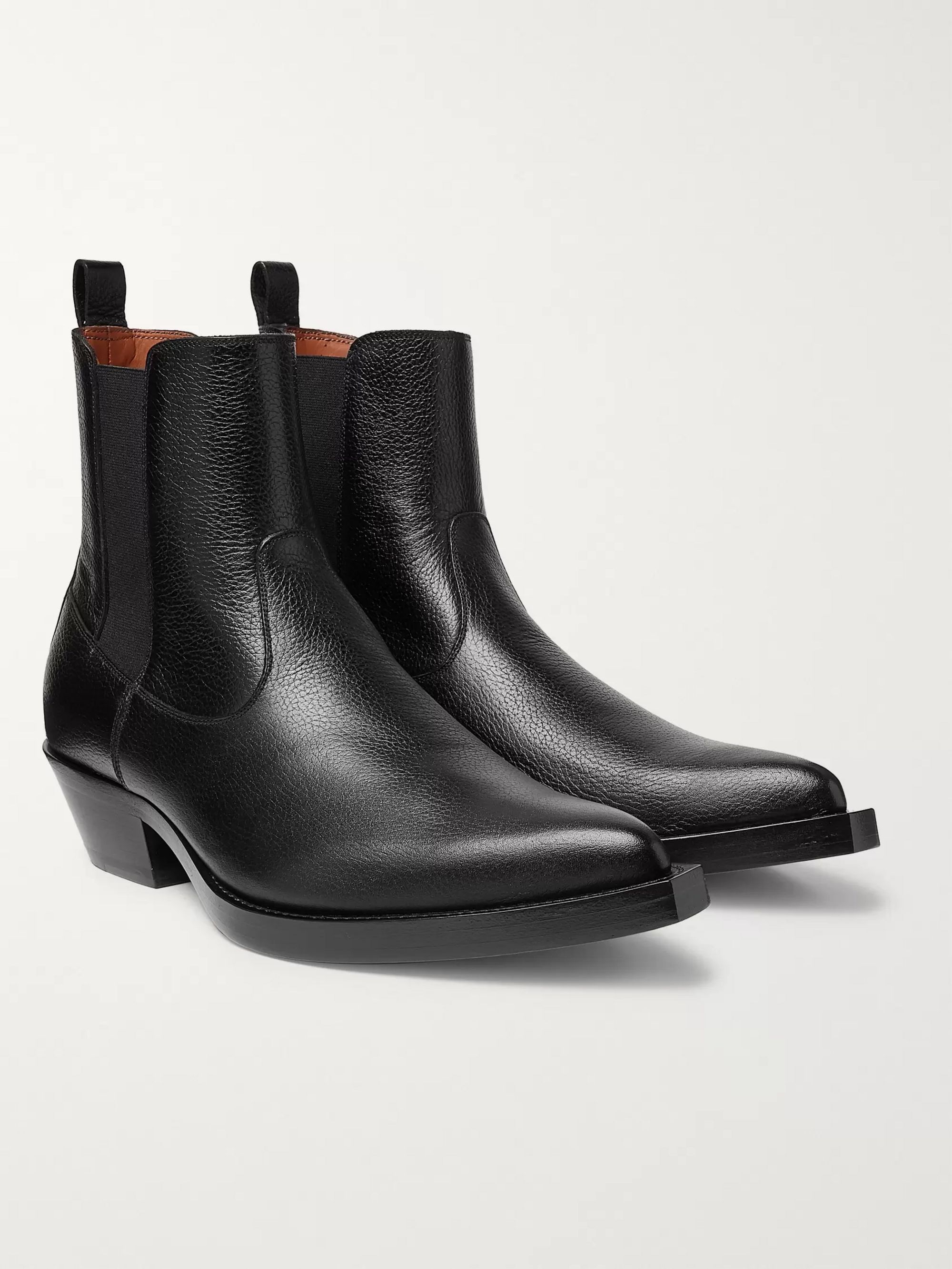 Givenchy Texas Full-Grain Leather Chelsea Boots