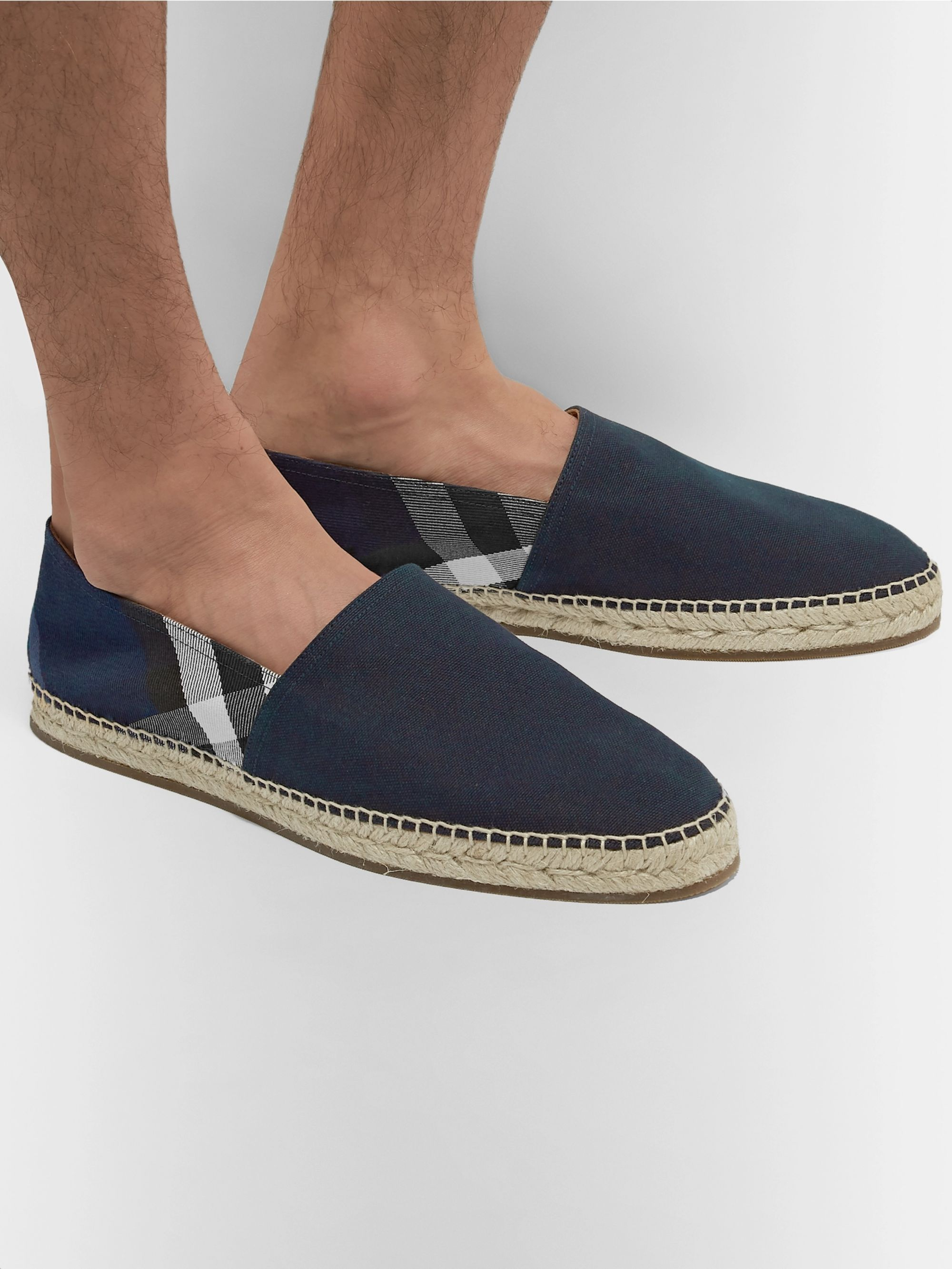Burberry Checked Canvas Espadrilles
