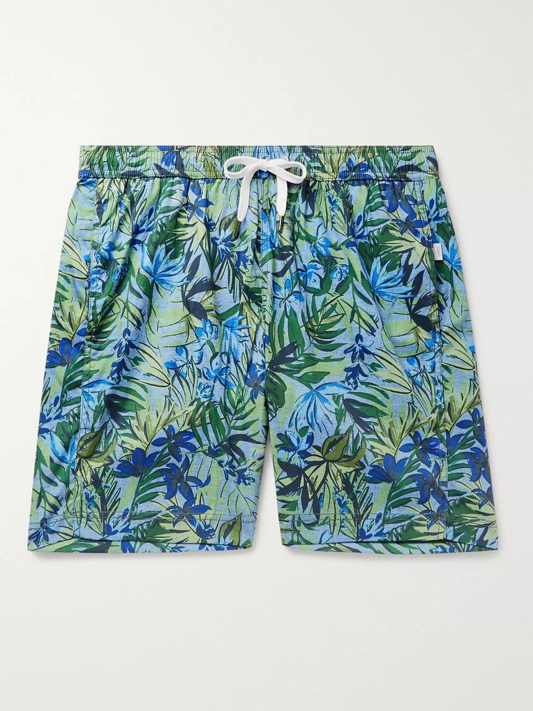 Onia Long-Length Printed Shell Swim Shorts