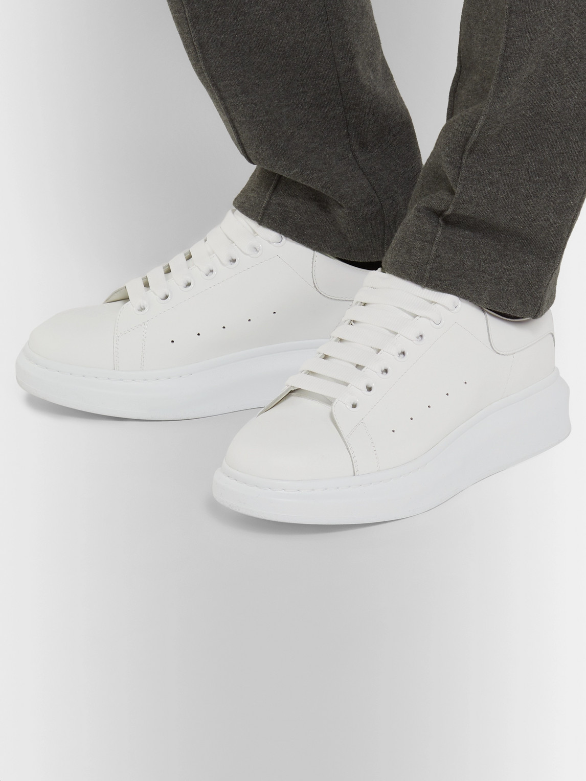Alexander Mcqueen Sneakers EXAGGERATED-SOLE LEATHER SNEAKERS