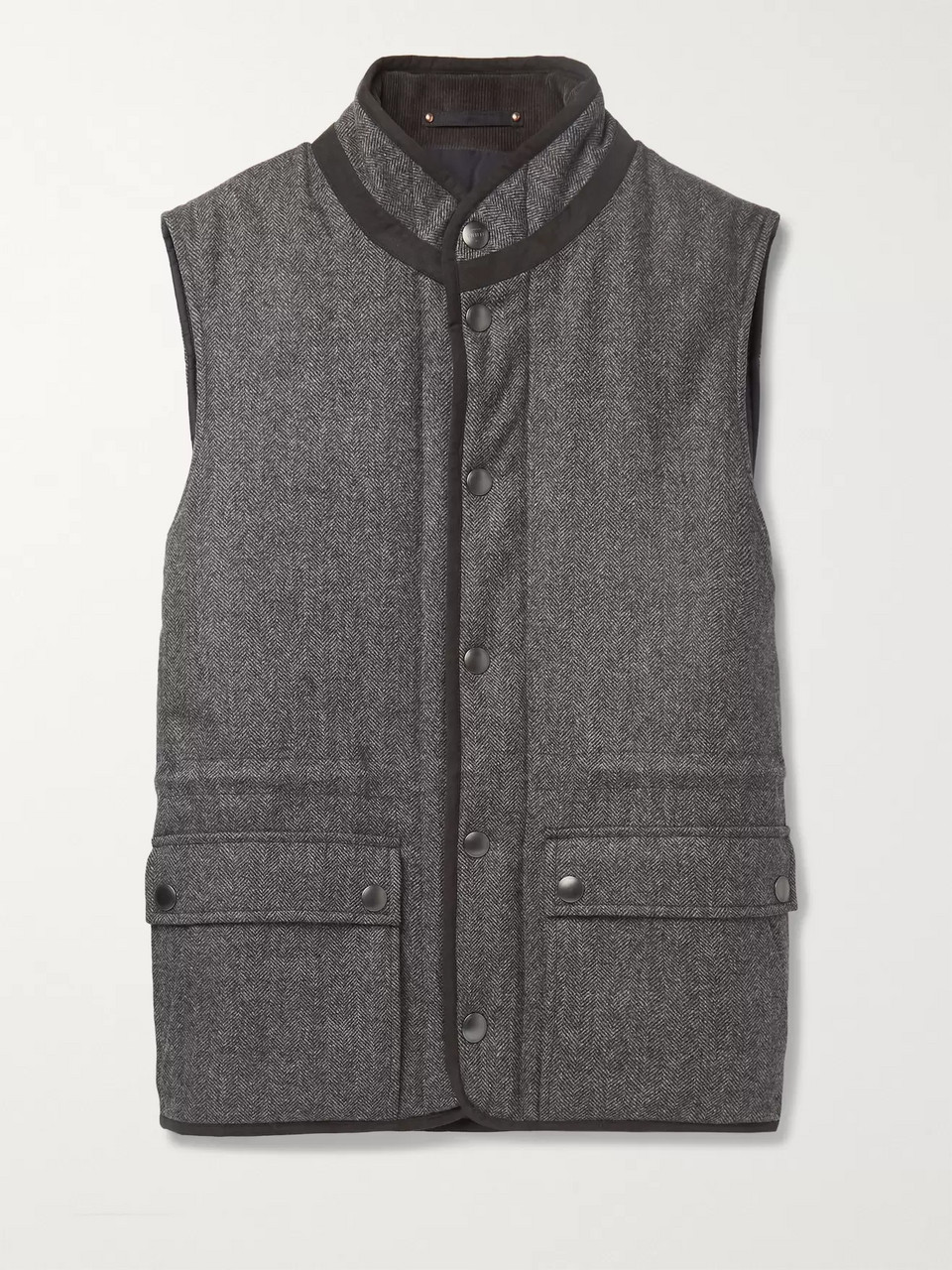 Private White V.C. + Woolmark Herringbone Merino Wool Gilet