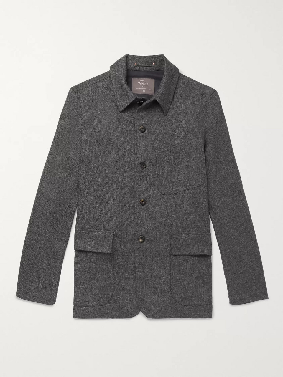 Private White V.C. Herringbone Wool Shirt Jacket