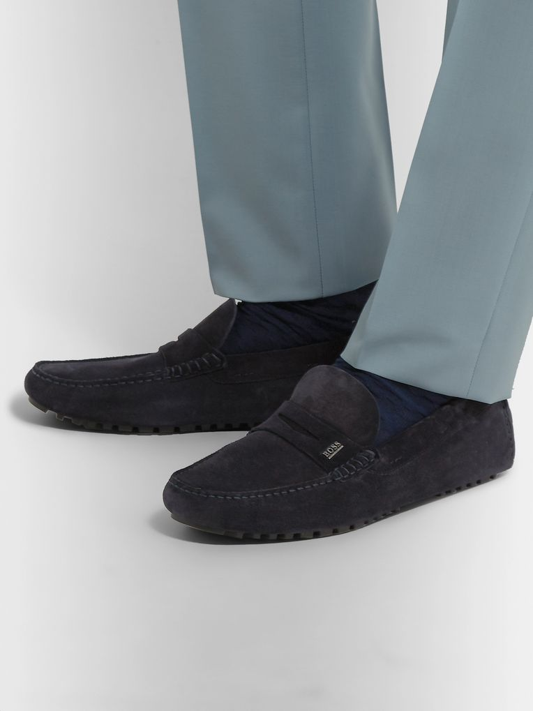 Hugo Boss Suede Driving Shoes