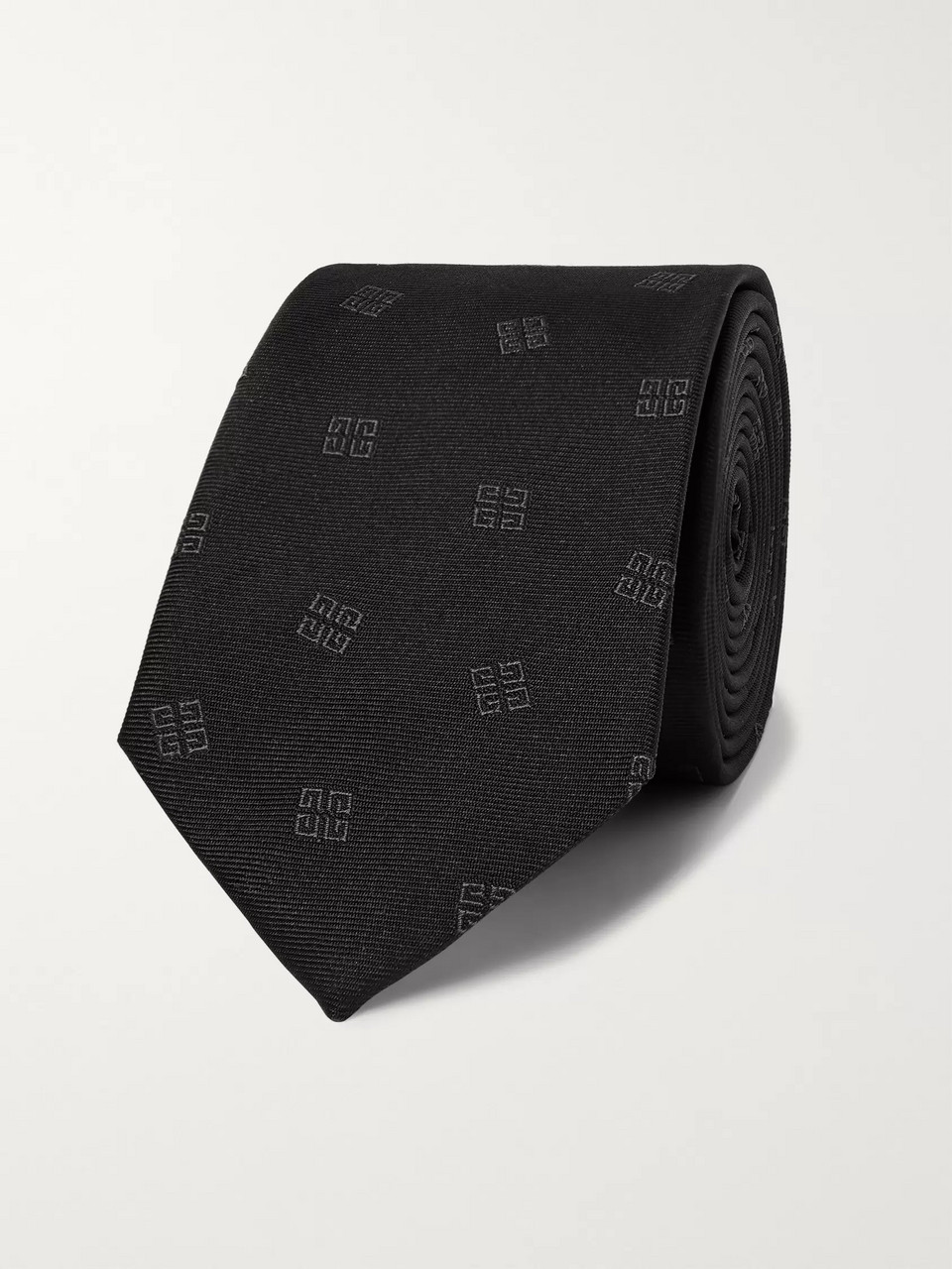 Givenchy 6.5cm Logo-Embroidered Silk-Faille Tie