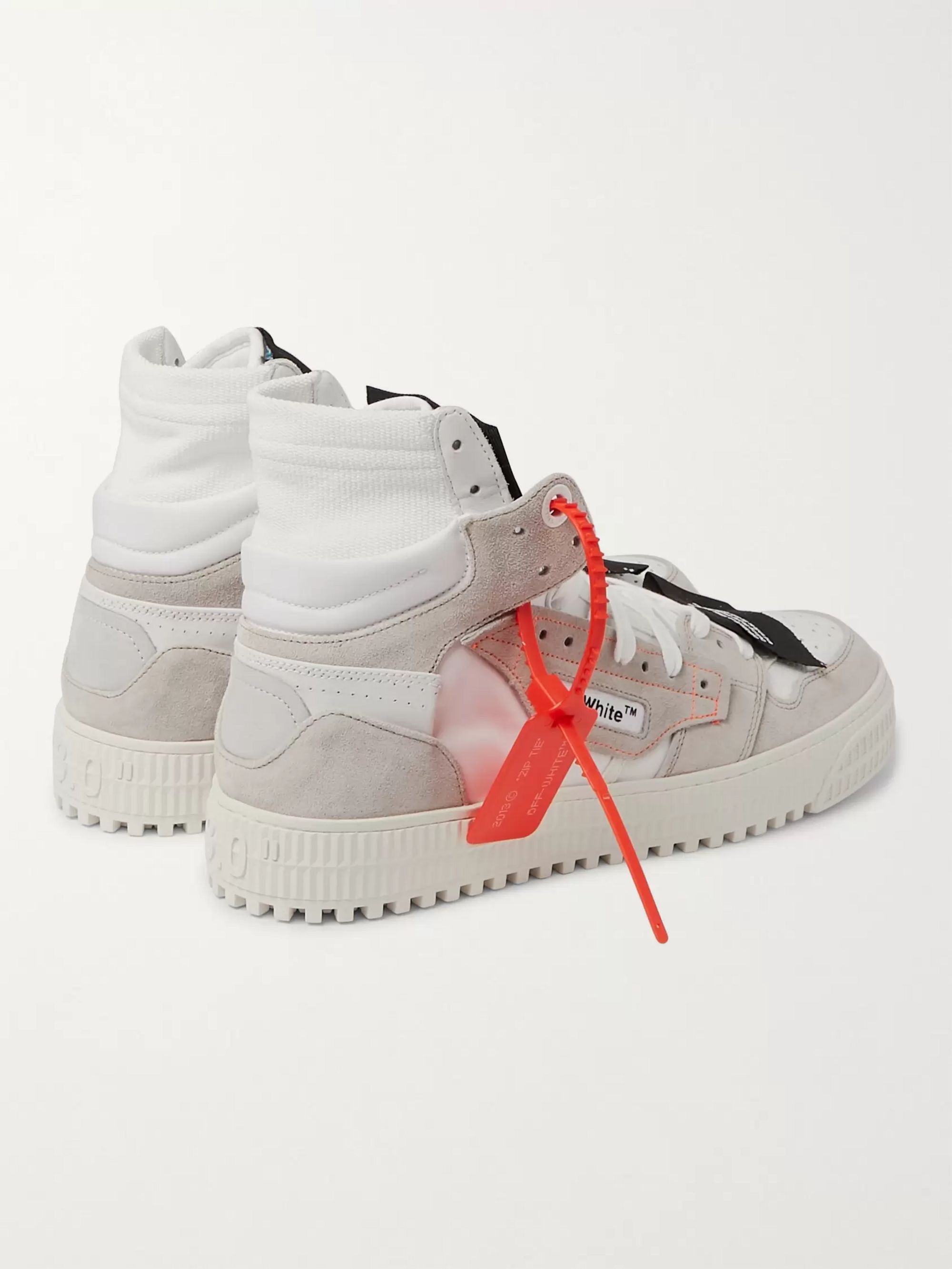 Off-White 3.0 Off-Court Suede, Leather and Canvas High-Top Sneakers