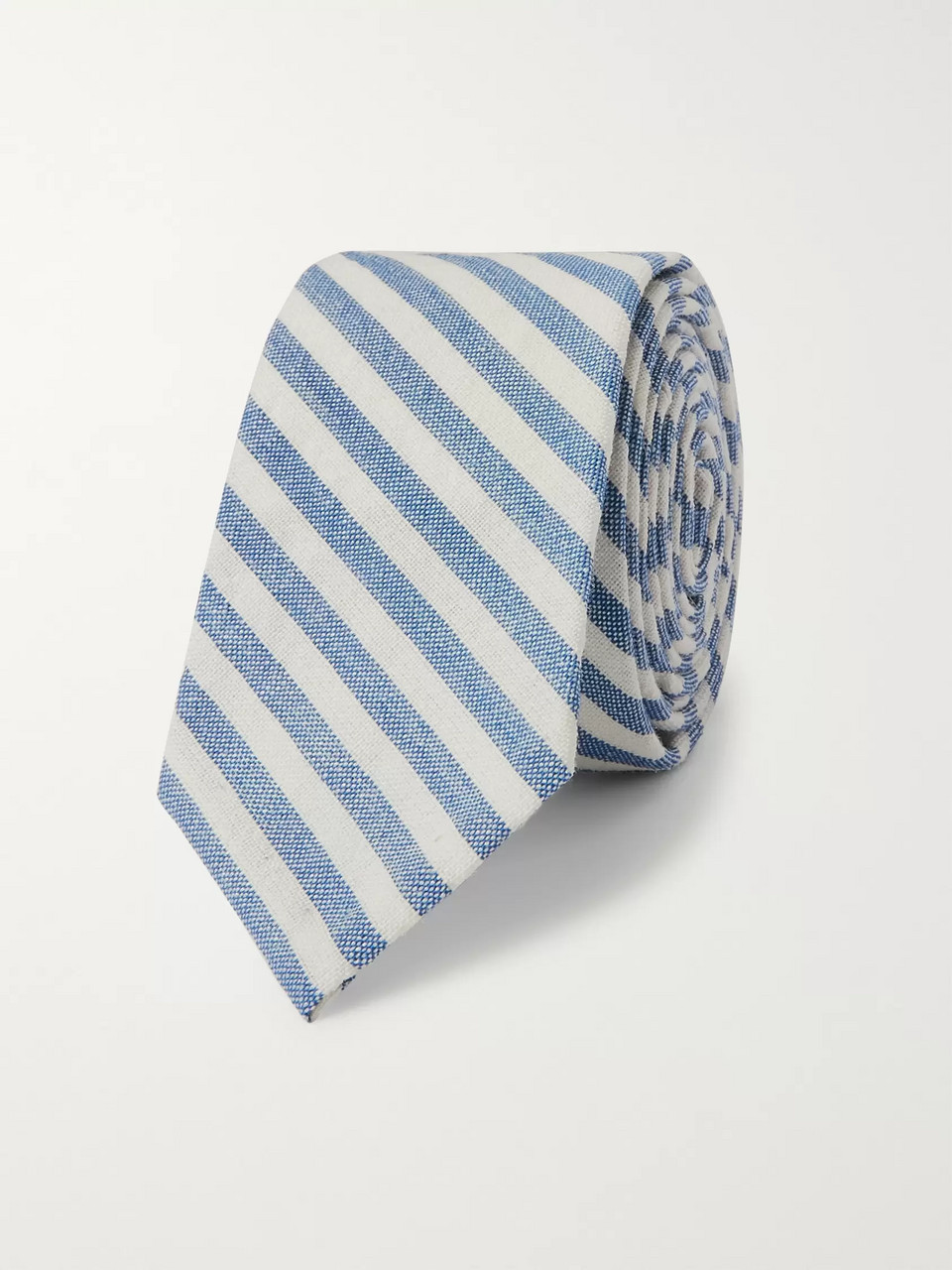 Thom Browne 5cm Striped Wool, Mohair and Silk-Blend Tie