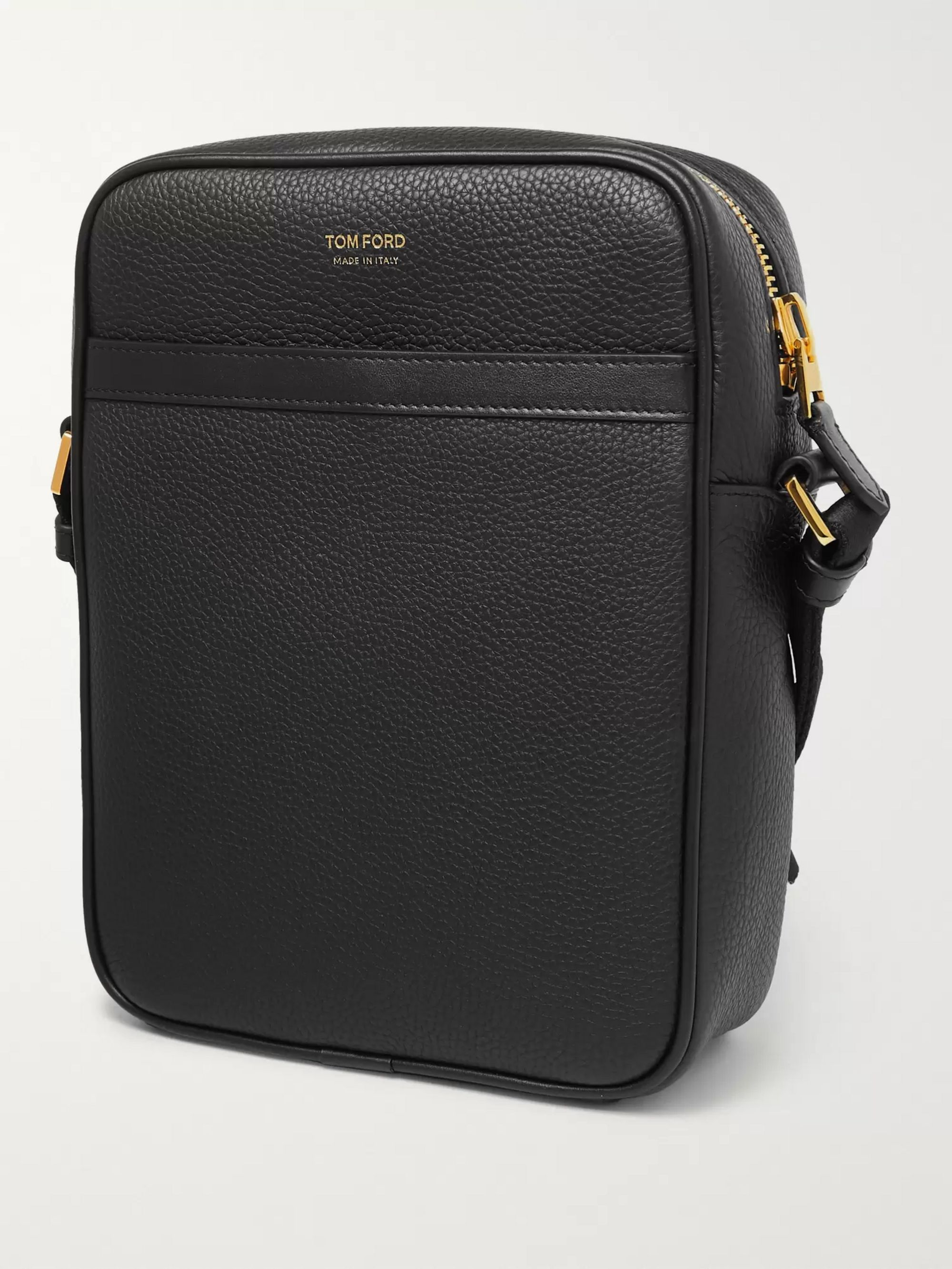 TOM FORD North South Full-Grain Leather Messenger Bag