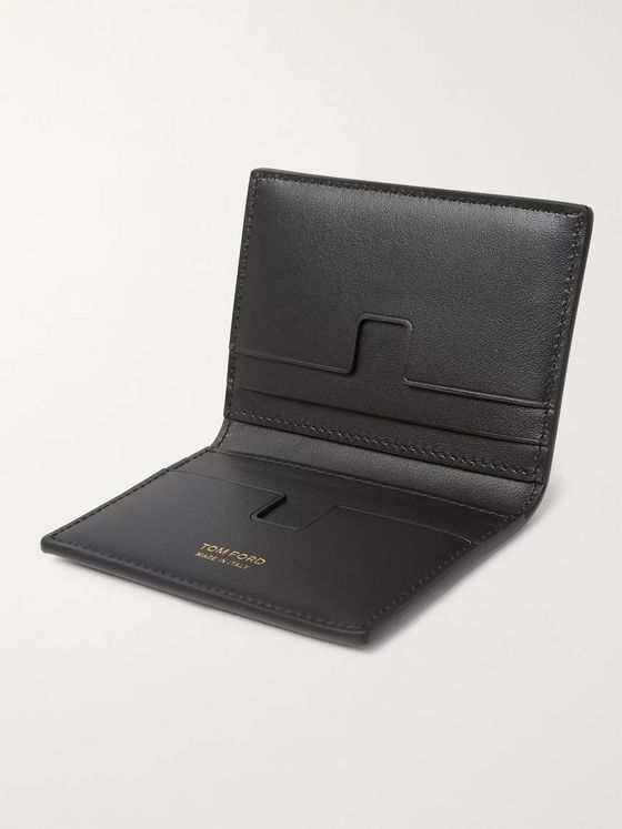 TOM FORD Leopard-Print Nubuck Billfold Wallet