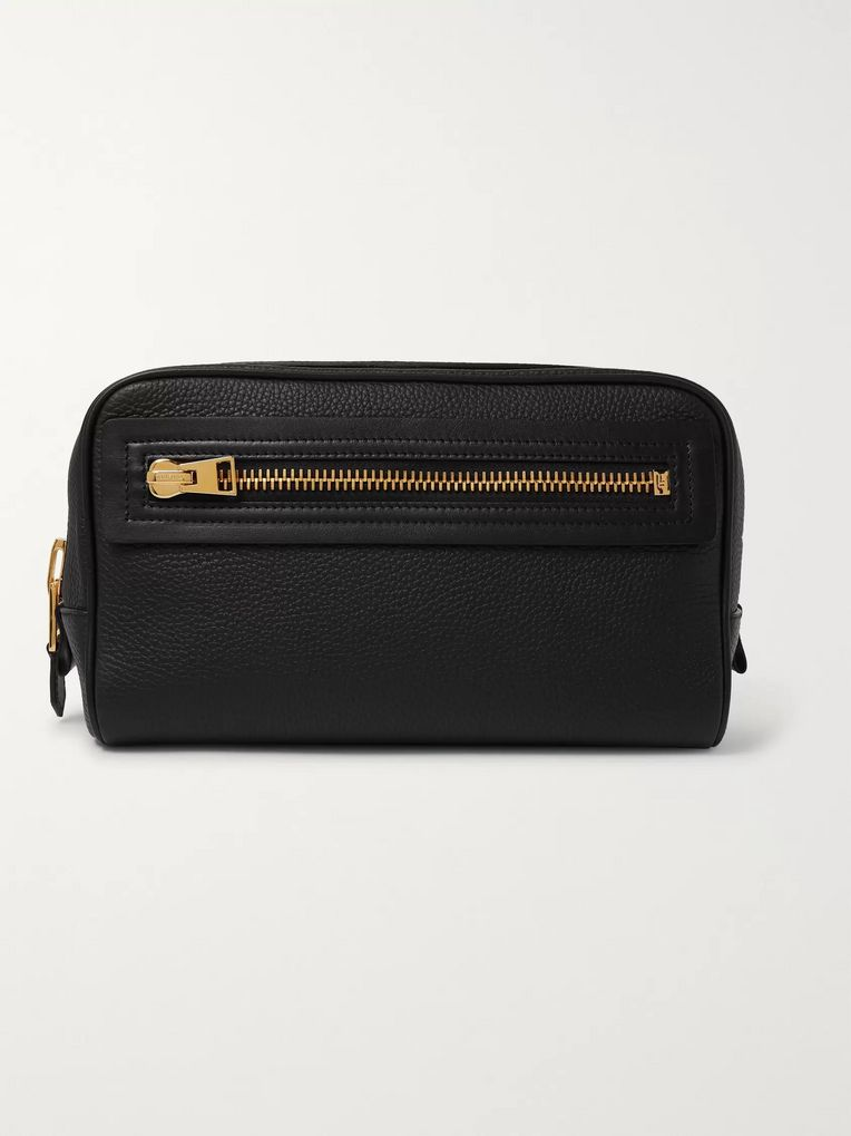 TOM FORD Full-Grain Leather Wash Bag