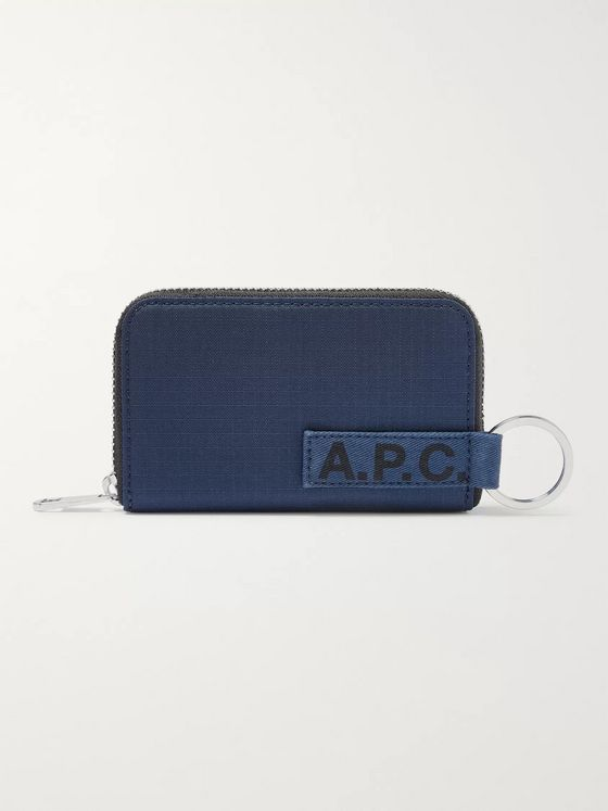 A.P.C. Logo-Print Ripstop Zip-Around Wallet