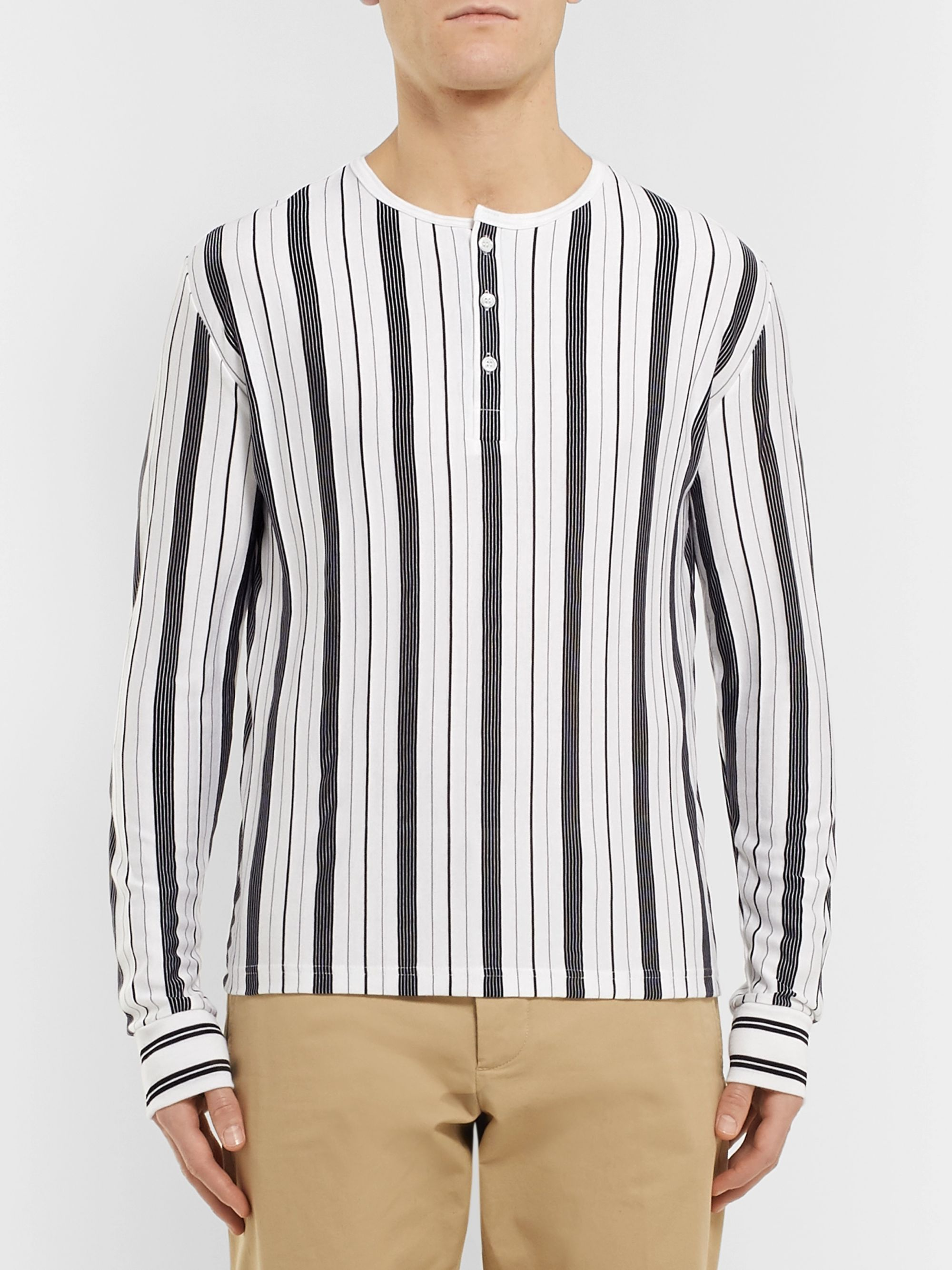 A.P.C. Mérioul Slim-Fit Striped Jersey Henley T-Shirt