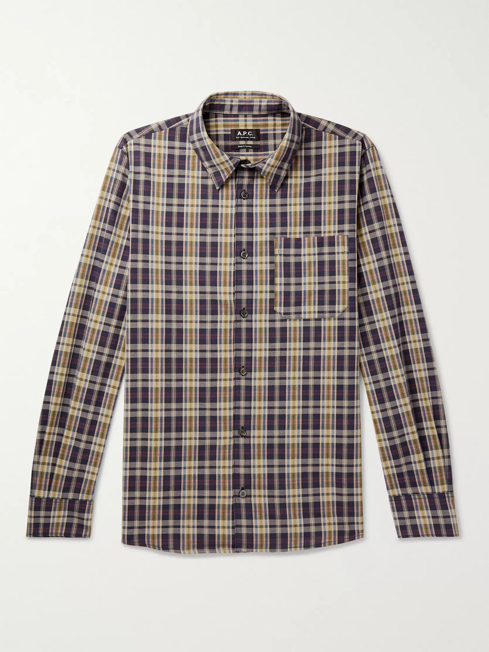A.P.C. Atelier Checked Cotton-Poplin Shirt