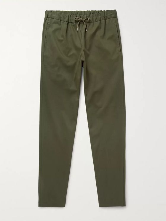 A.P.C. Kaplan Tapered Cotton-Blend Drawstring Trousers