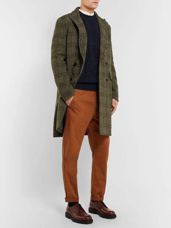 A.P.C. Exeter Slim-Fit Donegal Cable-Knit Sweater
