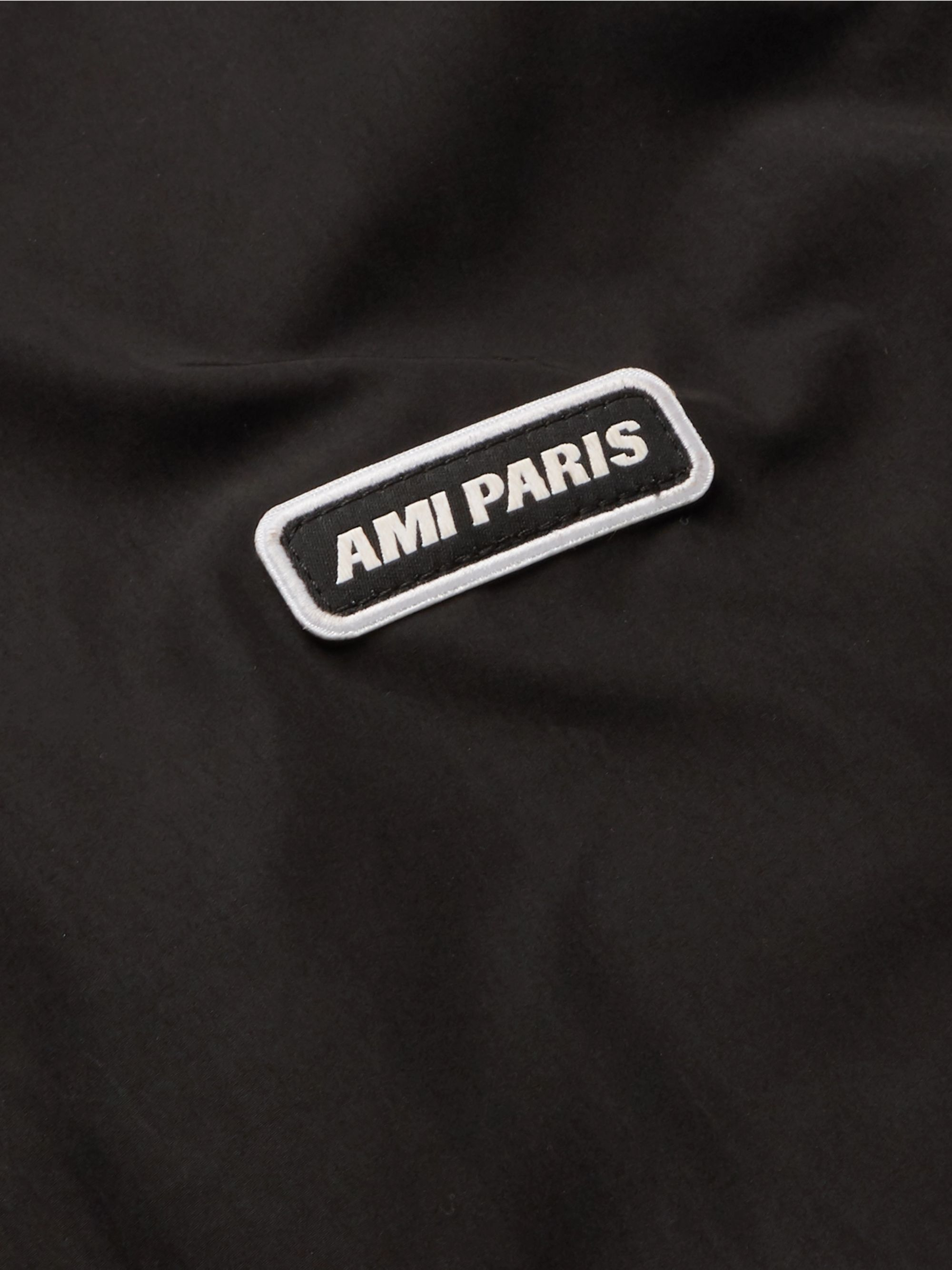 AMI Logo-Detailed Tech-Jersey Jacket