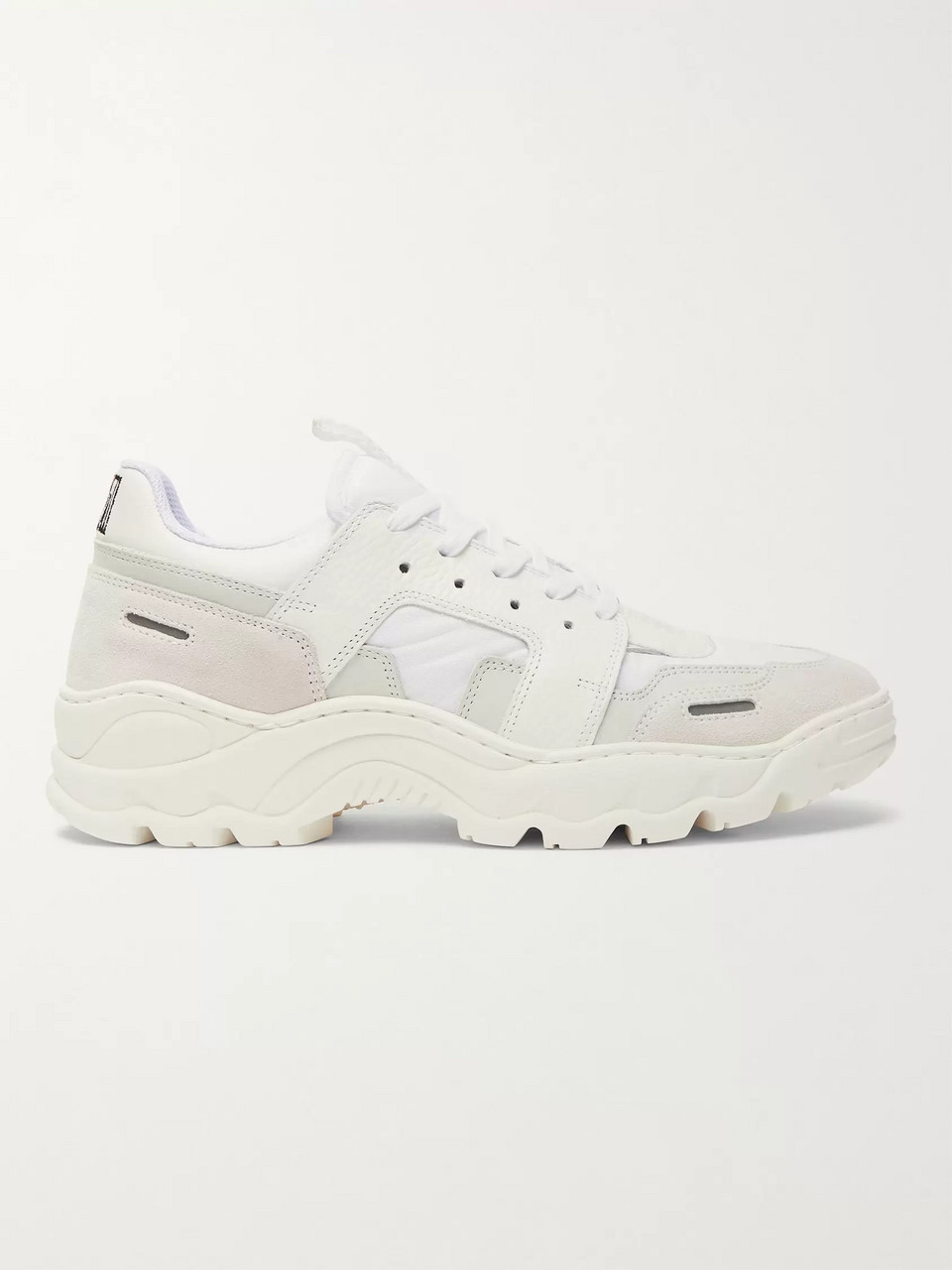 AMI Lucky 9 Nylon, Leather and Suede Sneakers