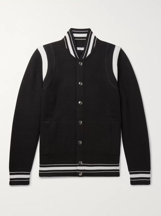 Givenchy Logo-Embroidered Wool Varsity Jacket