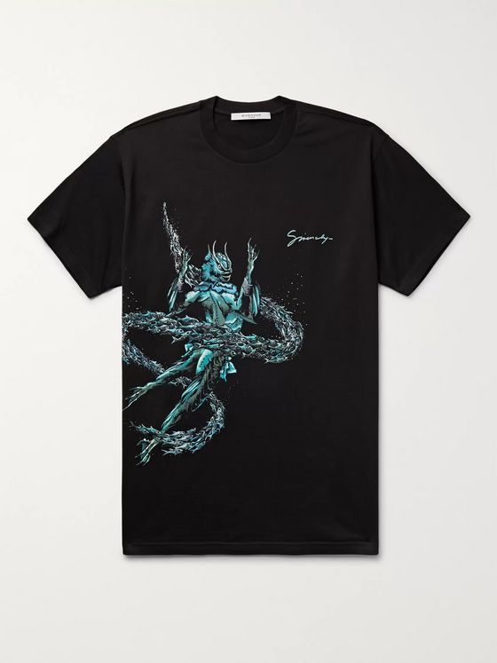 Givenchy Pisces Printed Cotton-Jersey T-Shirt