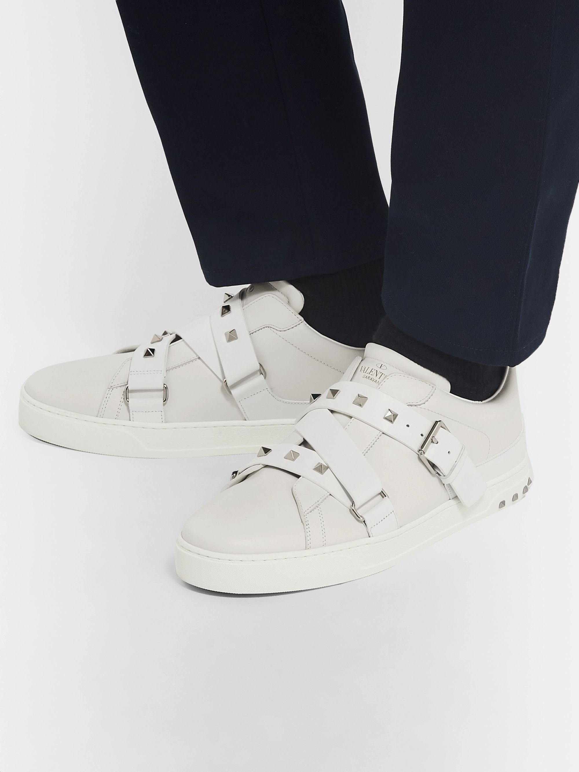 Valentino V Punk Garavani Leather Sneakers K1JFcTl