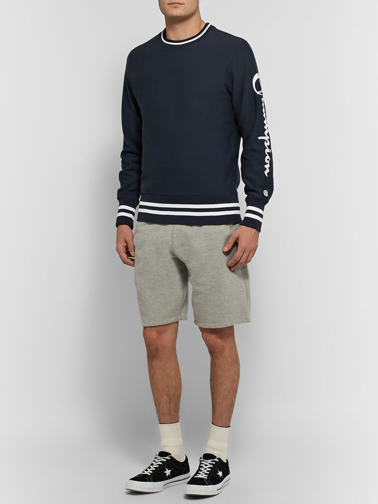 Todd Snyder + Champion Logo-Print Loopback Cotton Jersey Sweatshirt