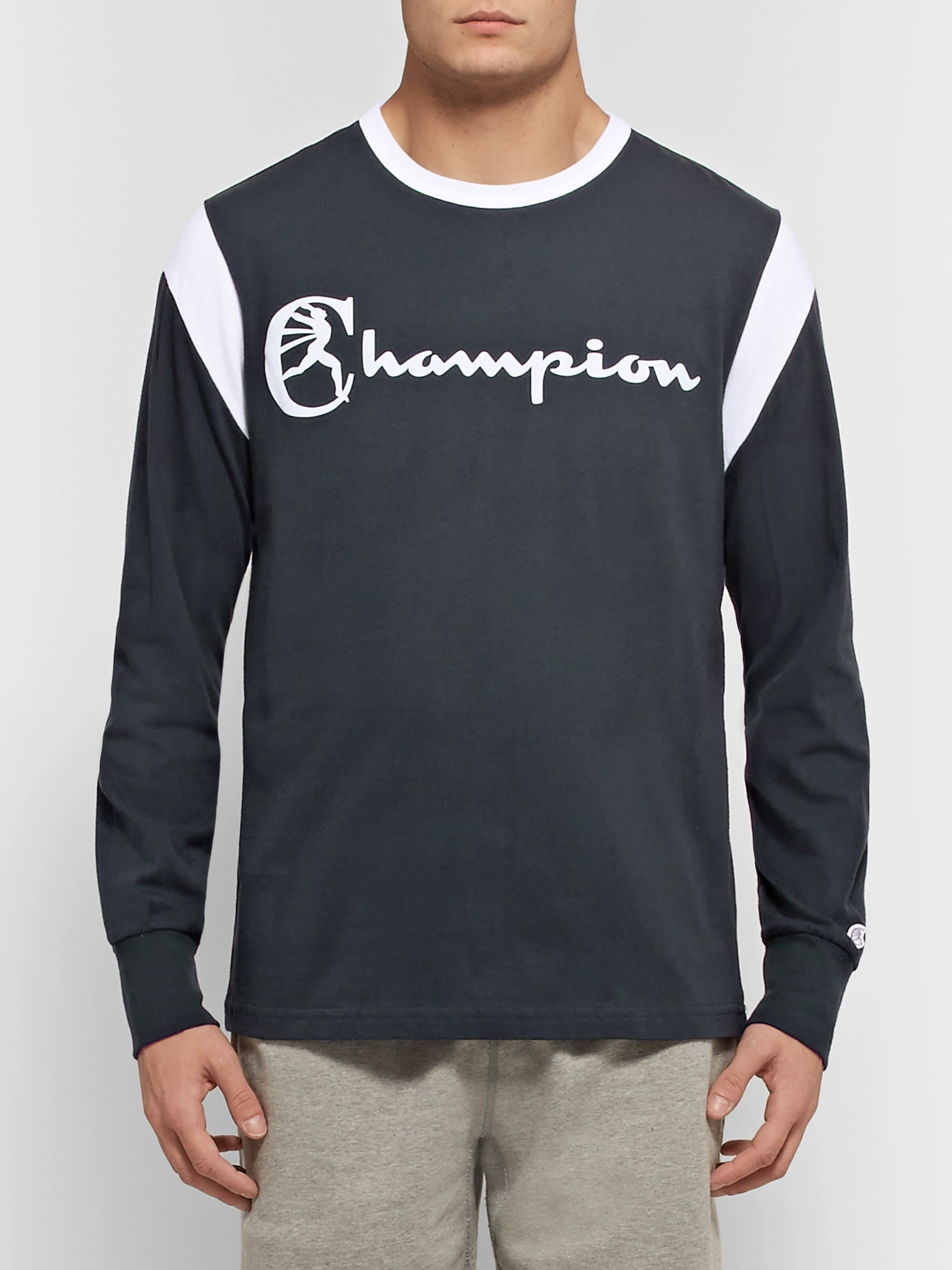 Todd Snyder + Champion Logo-Print Cotton-Jersey T-Shirt