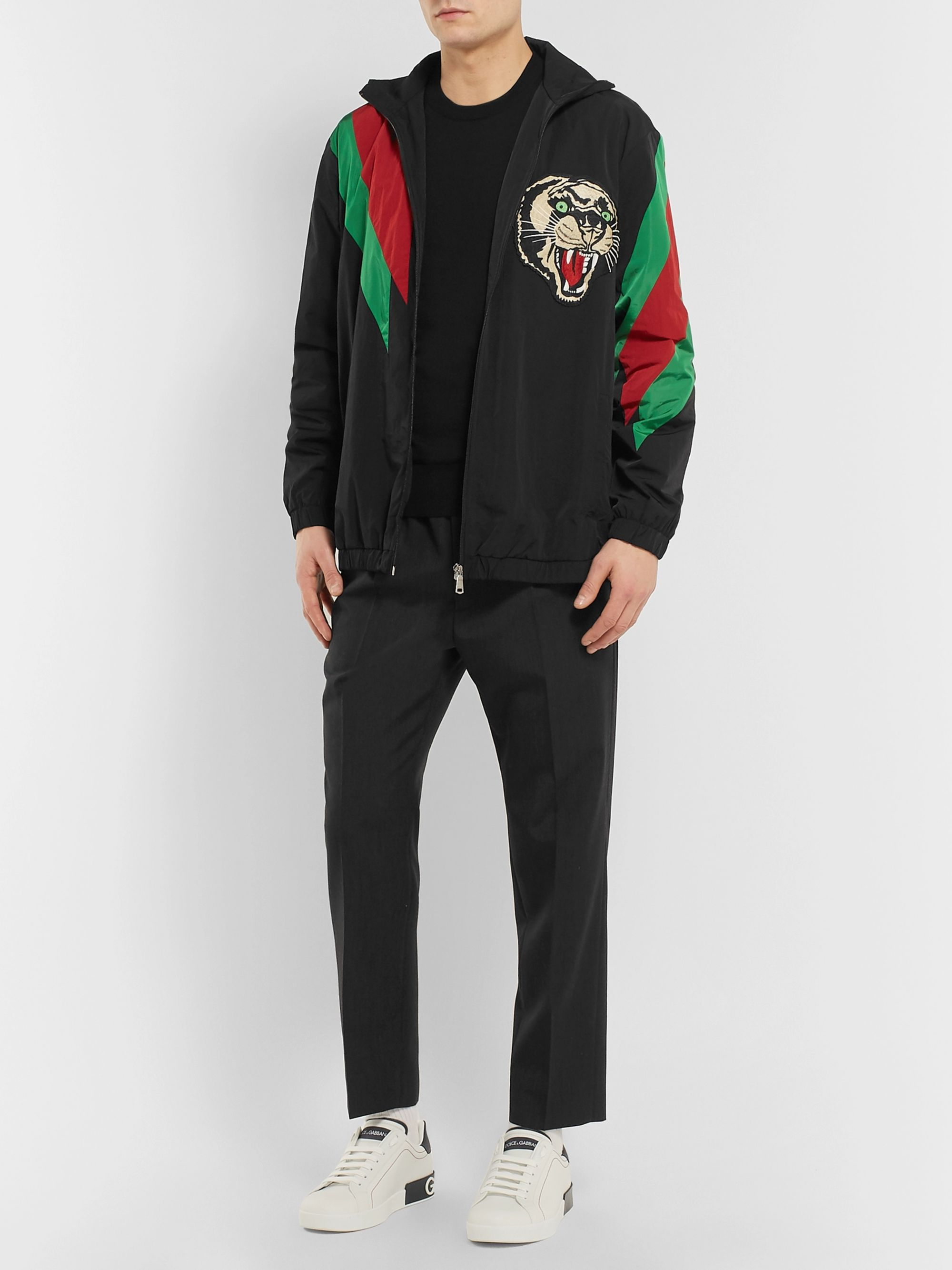 Dolce & Gabbana Slim-Fit Logo-Appliquéd Virgin Wool Sweater