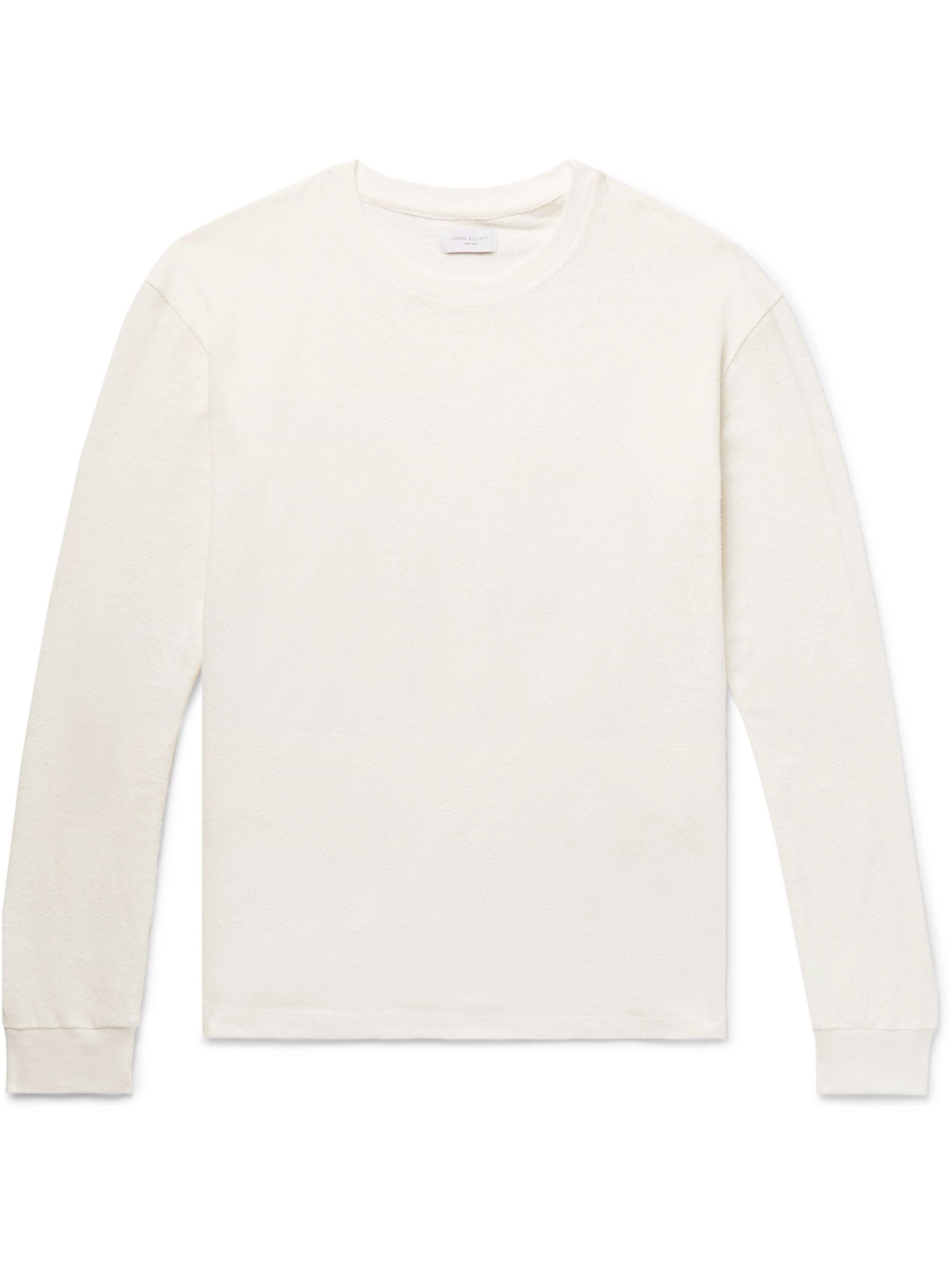 the latest aec80 a3732 Slub Cotton and Silk-Blend Jersey T-Shirt
