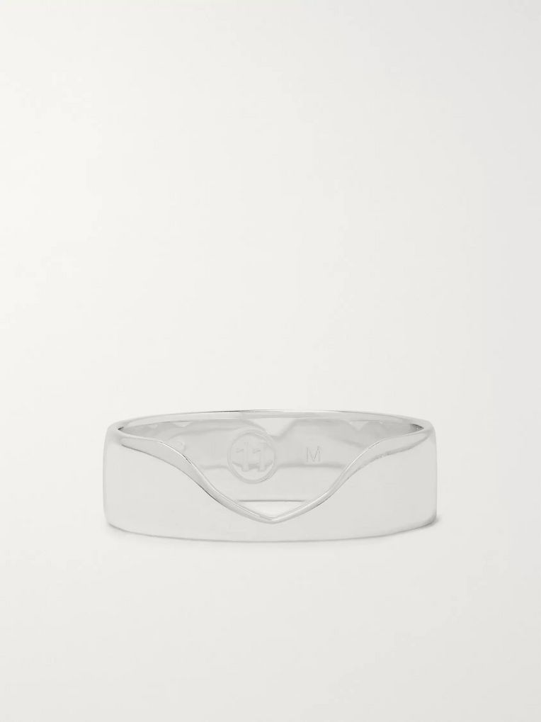 Maison Margiela Indent Sterling Silver Ring