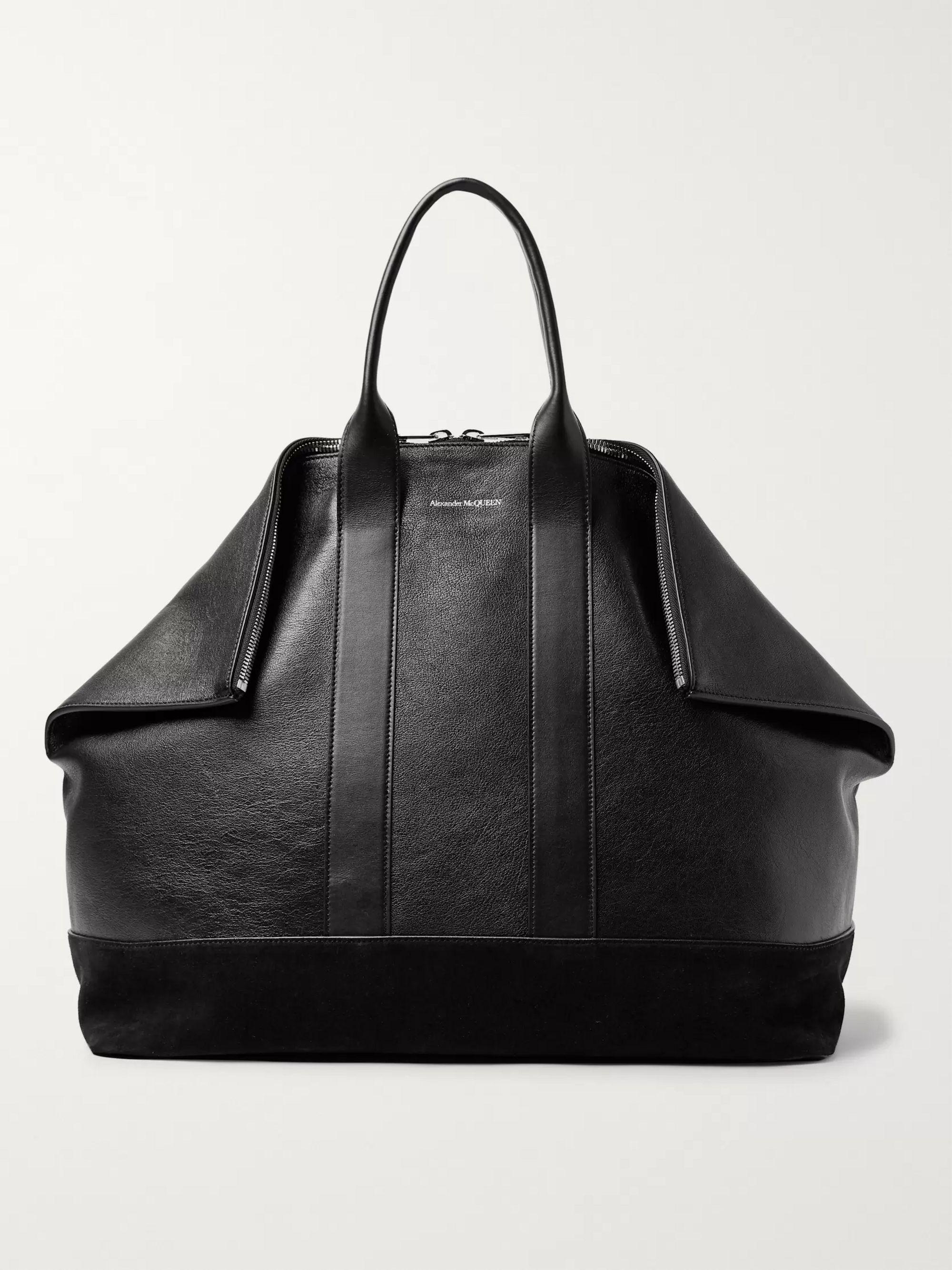 De Manta Leather And Suede Tote Bag