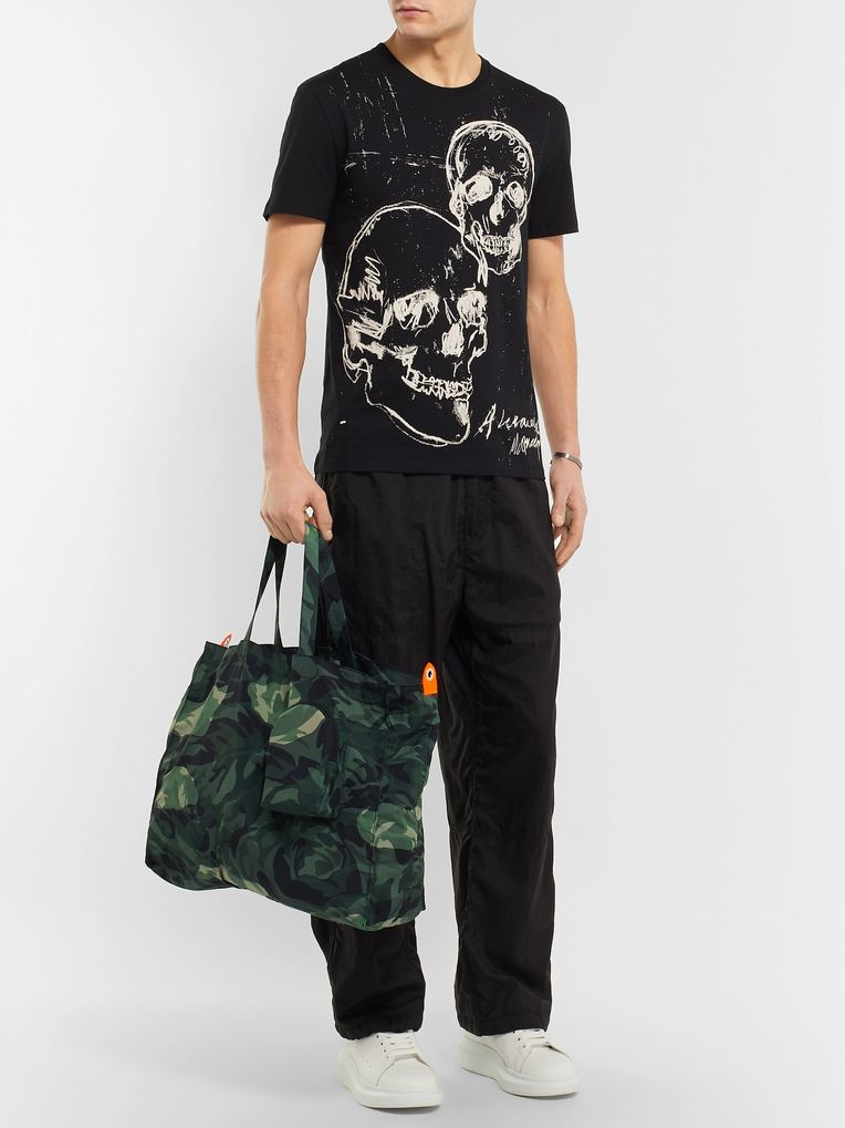 Alexander McQueen Camouflage-Print Shell Tote Bag