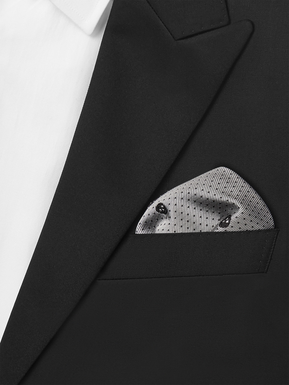 Alexander McQueen Embroidered Skull and Polka-Dot Jacquard Silk-Twill Pocket Square
