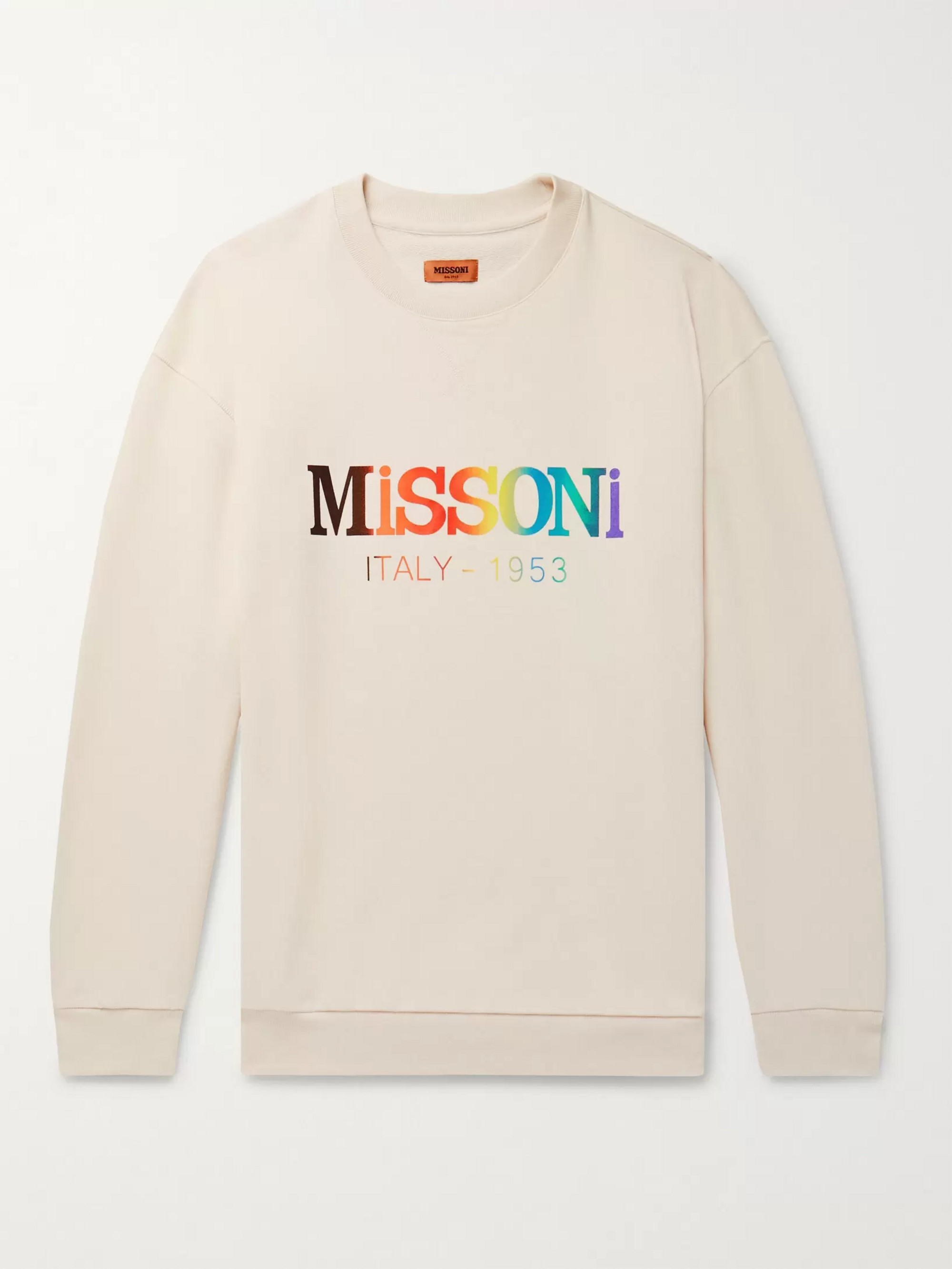 Missoni Logo-Print Loopback Cotton-Jersey Sweatshirt