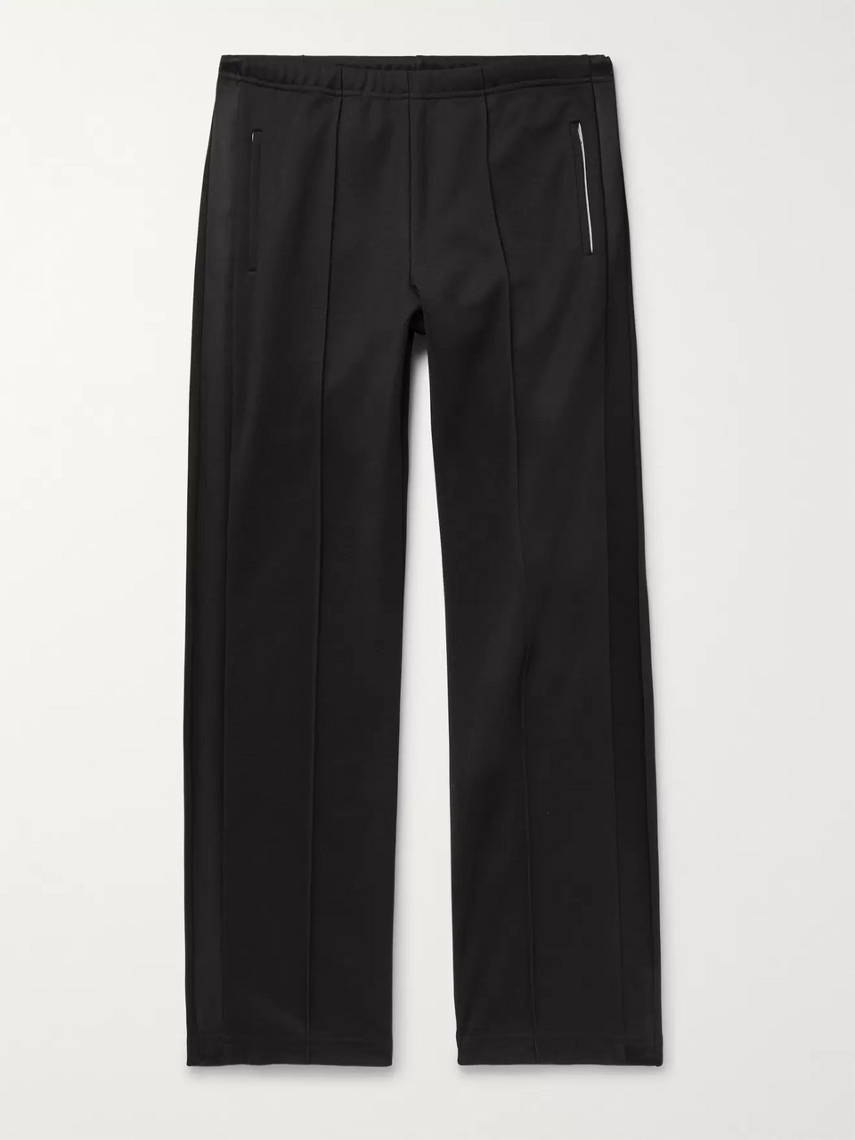 Maison Margiela Satin-Trimmed Tech-Jersey Trousers