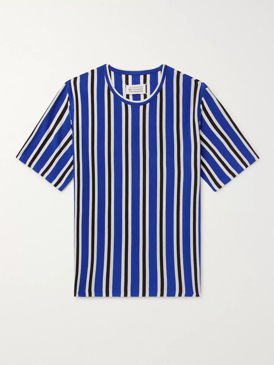 Maison Margiela Striped Knitted Wool-Blend T-Shirt