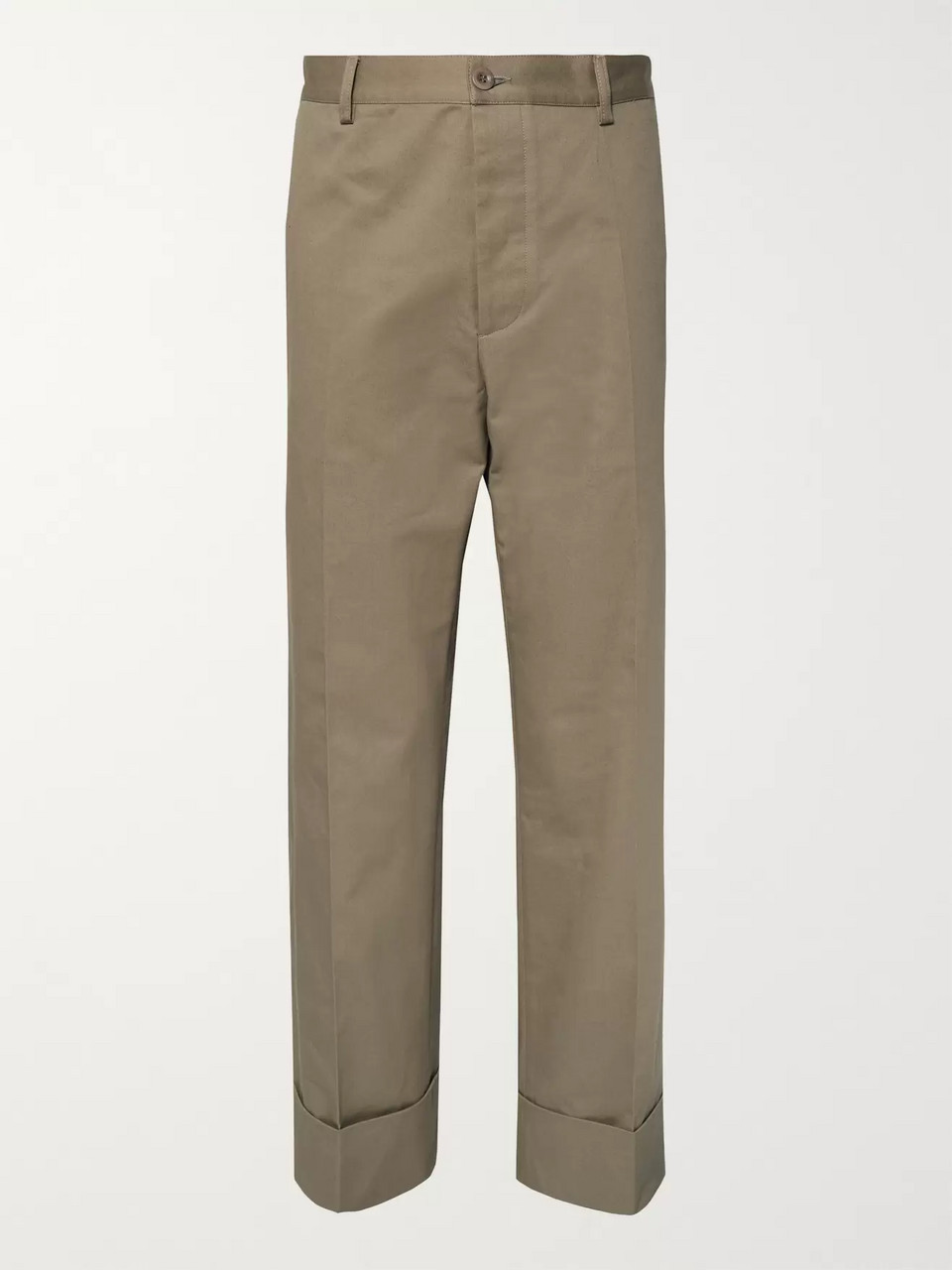 Maison Margiela Wide-Leg Cotton-Twill Chinos