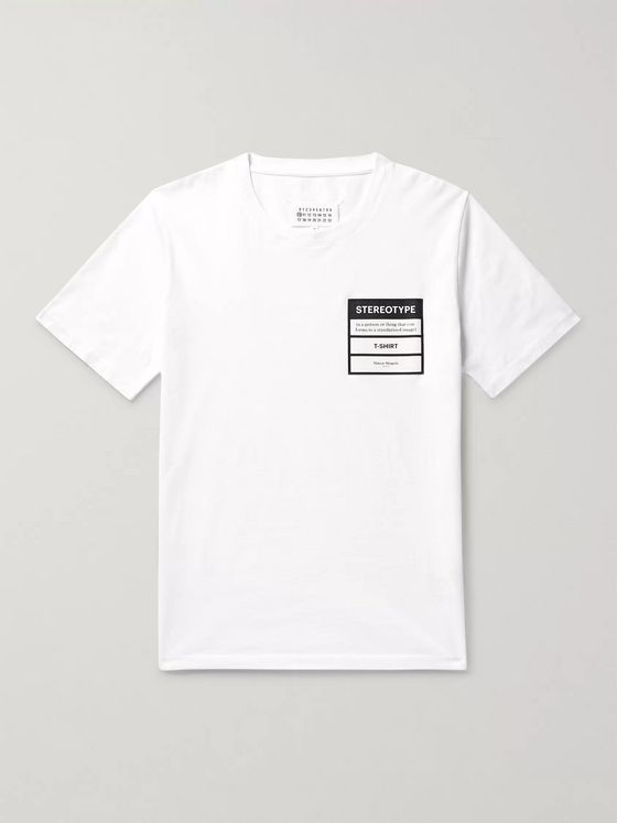 MAISON MARGIELA Appliquéd Cotton-Jersey T-shirt