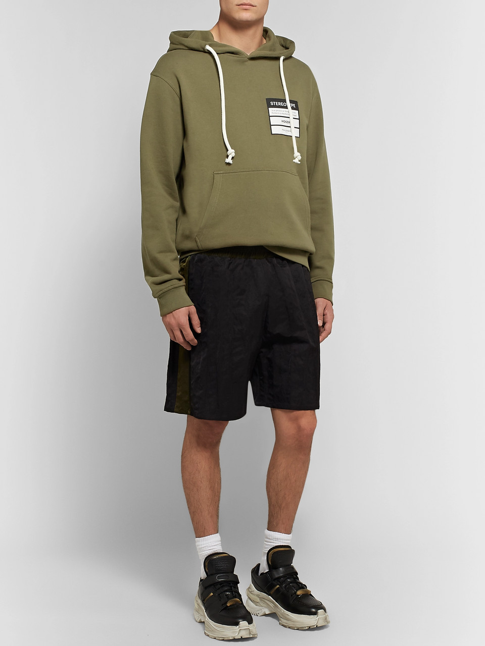Maison Margiela Appliquéd Loopback Cotton-Jersey Hoodie
