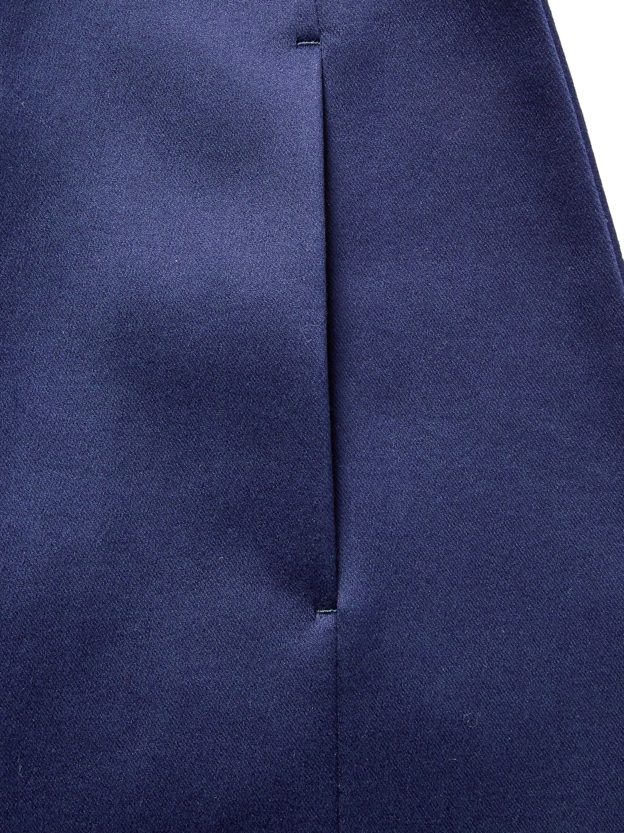 Maison Margiela Navy Collarless Cotton-Sateen Blazer
