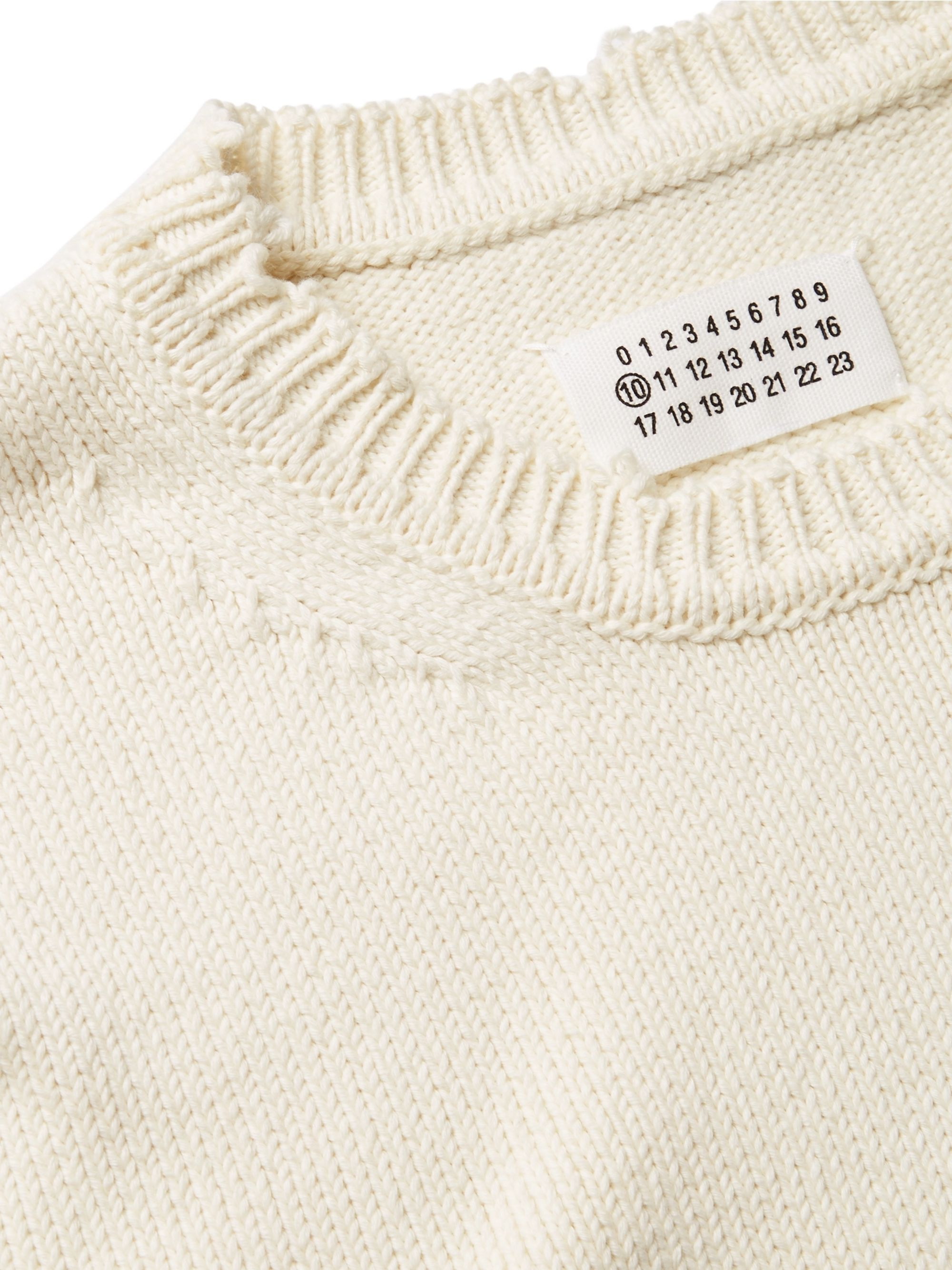 Maison Margiela Distressed Cotton Sweater