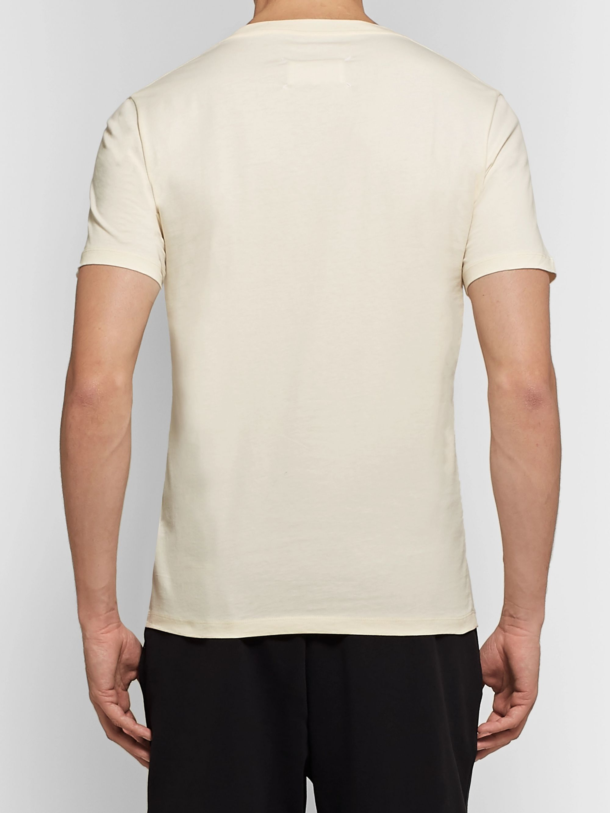 Maison Margiela Shell-Panelled Cotton-Jersey T-Shirt
