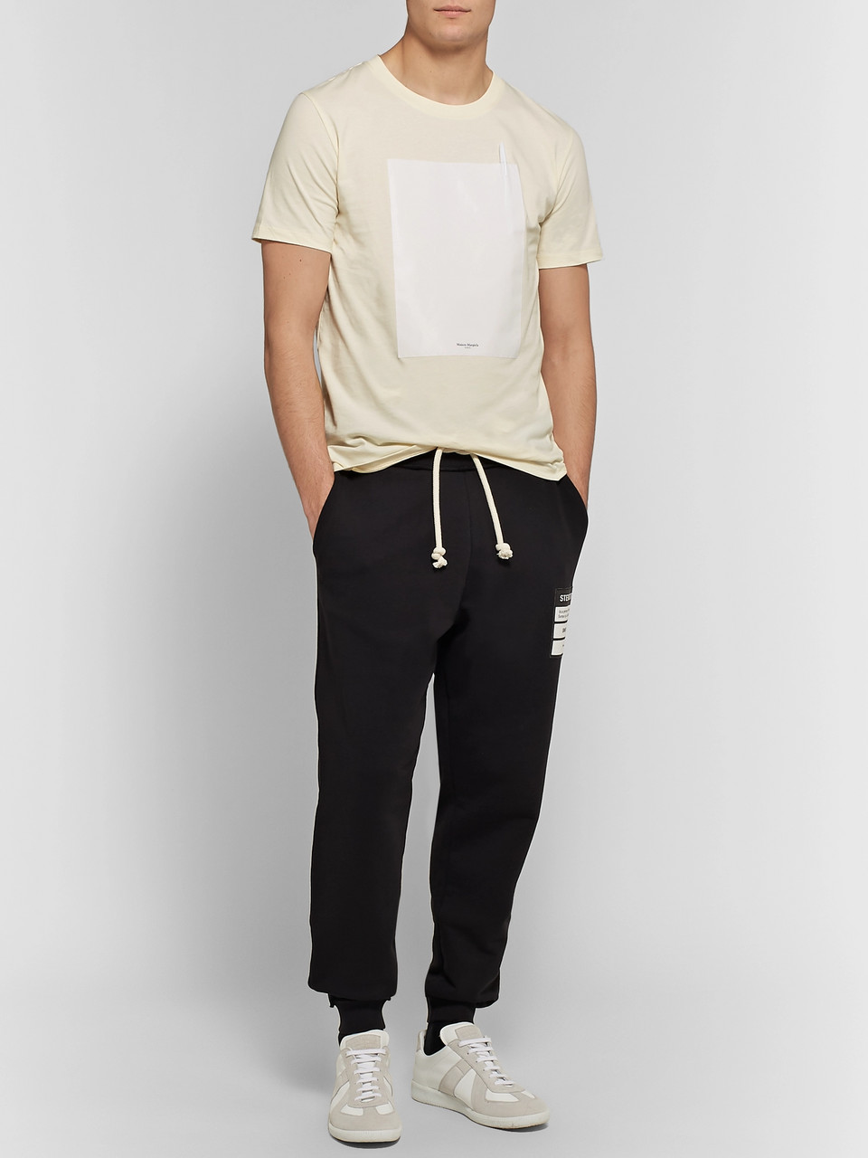 Maison Margiela Shell-Trimmed Cotton-Jersey T-Shirt