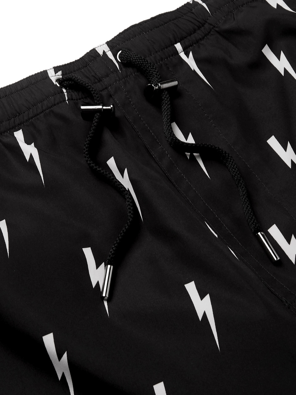 Neil Barrett Slim-Fit Short-Length Printed Swim Shorts