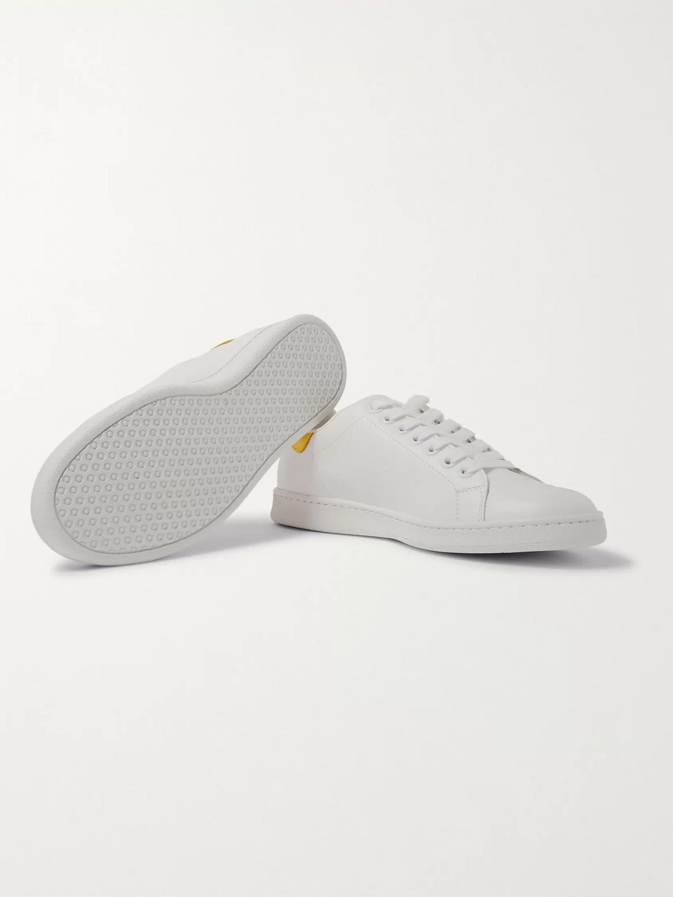 Neil Barrett Rubber-Trimmed Leather Sneakers