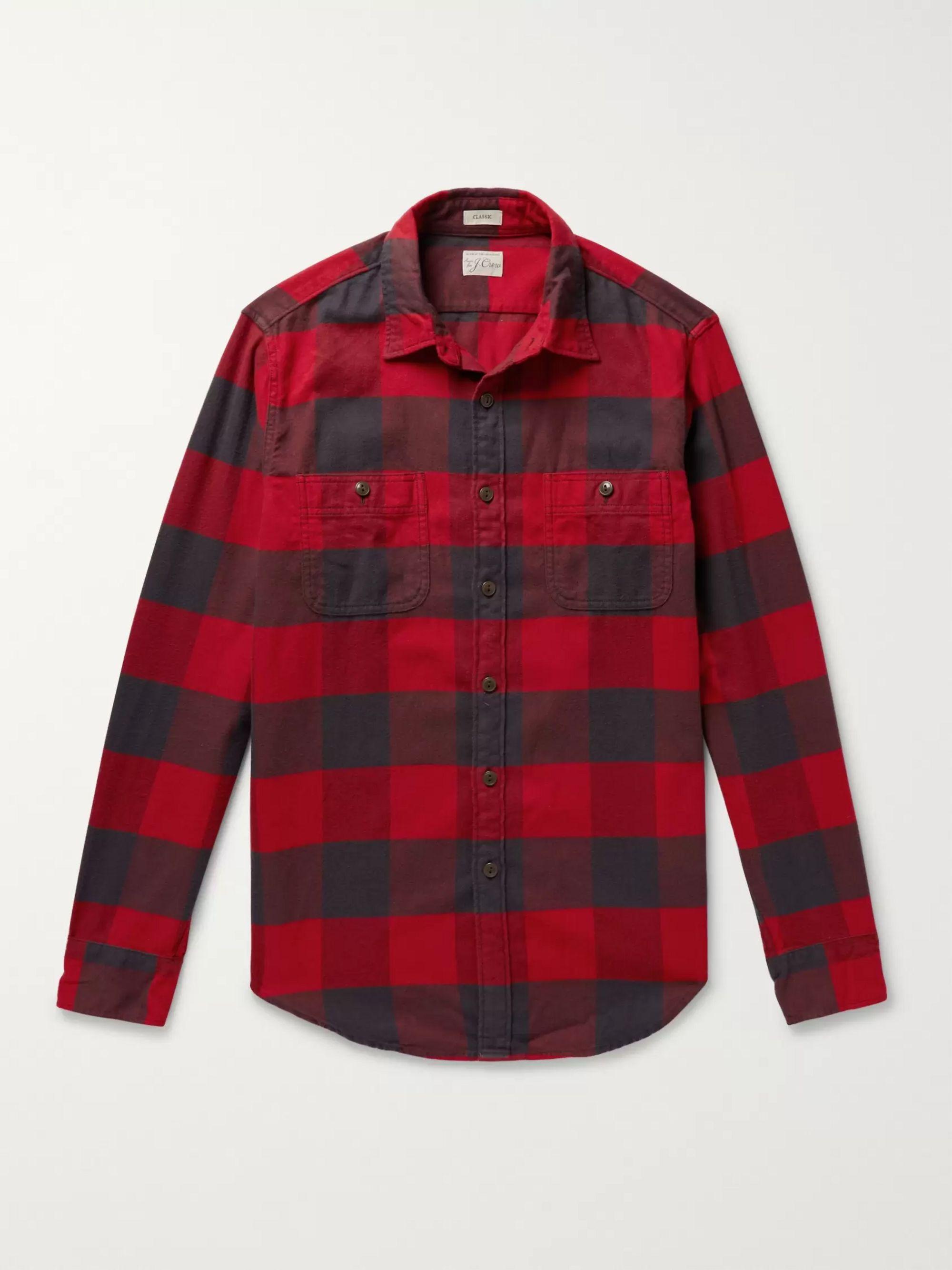 Buffalo Check Cotton Flannel Shirt