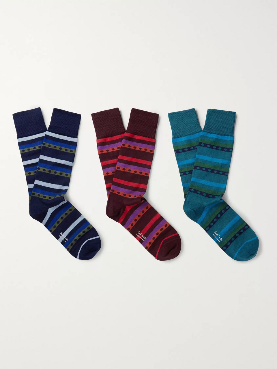 Paul Smith Three-Pack Stretch Cotton-Blend Socks