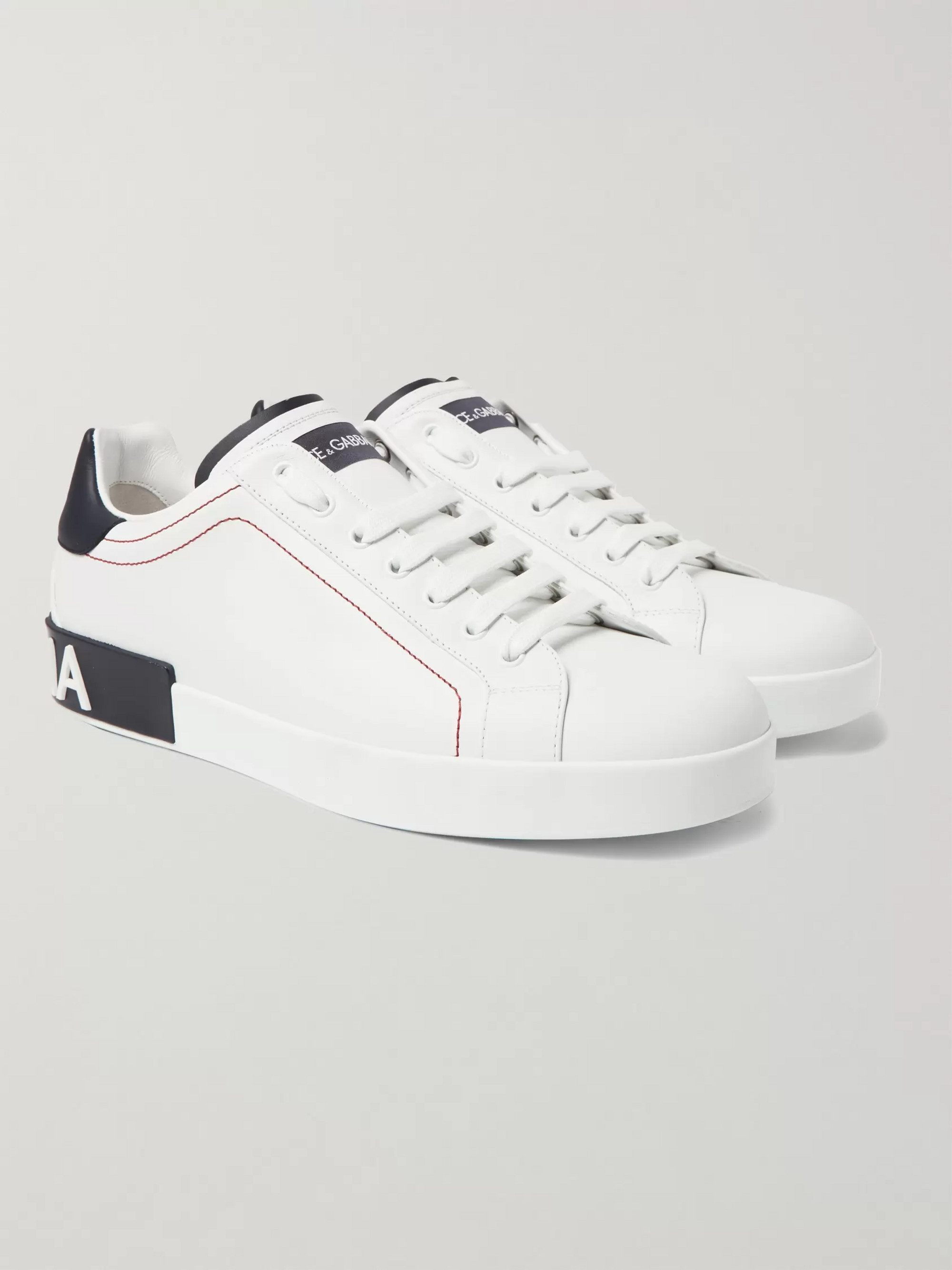Dolce & Gabbana Logo-Detailed Leather Sneakers